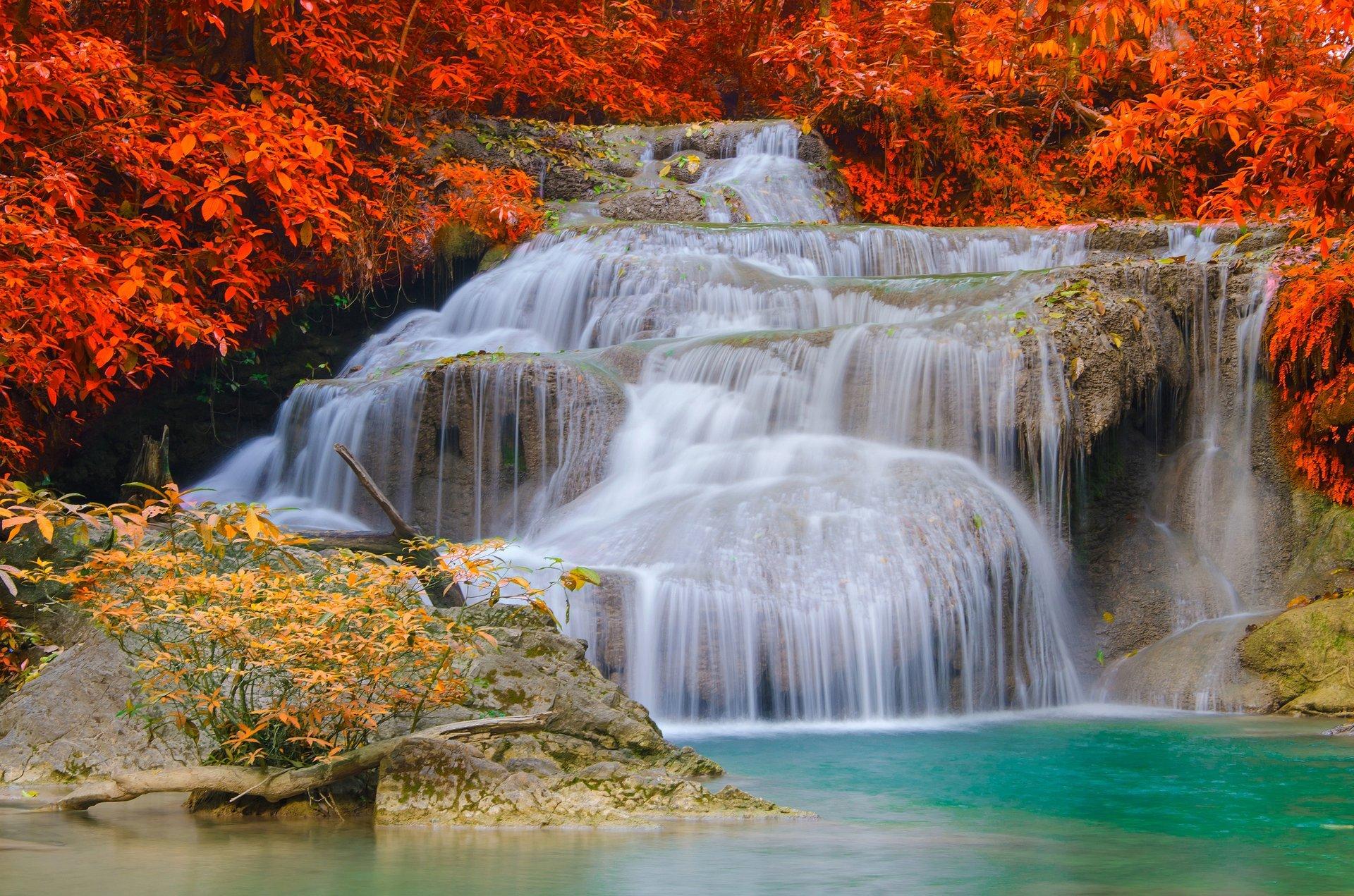 Обои водопад, осень. Природа foto 13