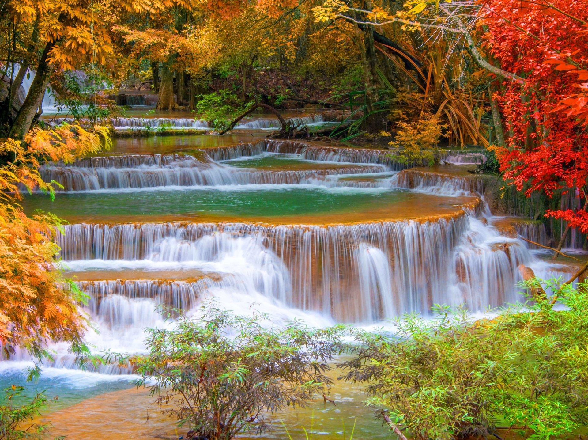 Обои красиво, водопад, Вода. Природа foto 10