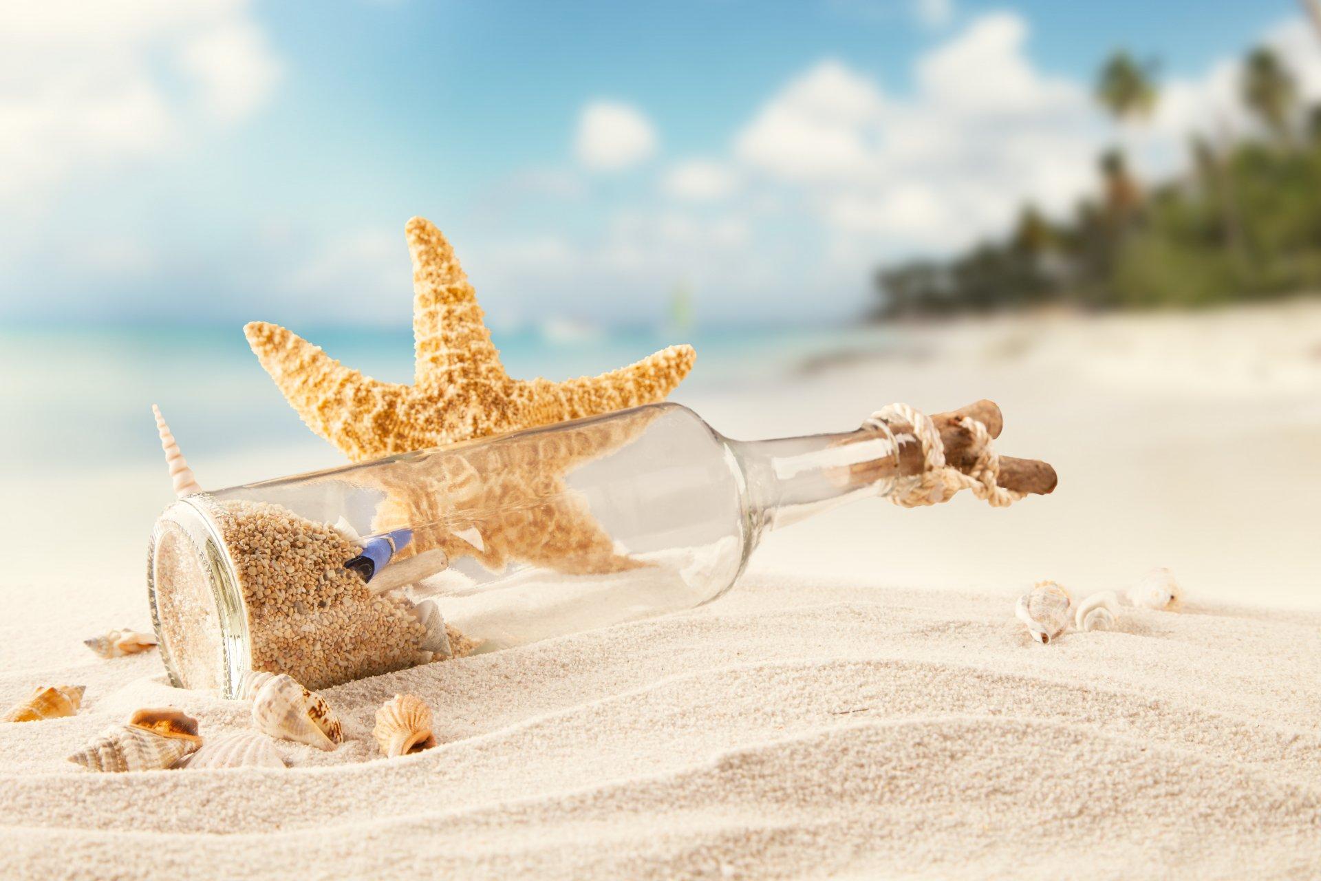 наклейки красивая картинка море песок ракушки сайте собраны