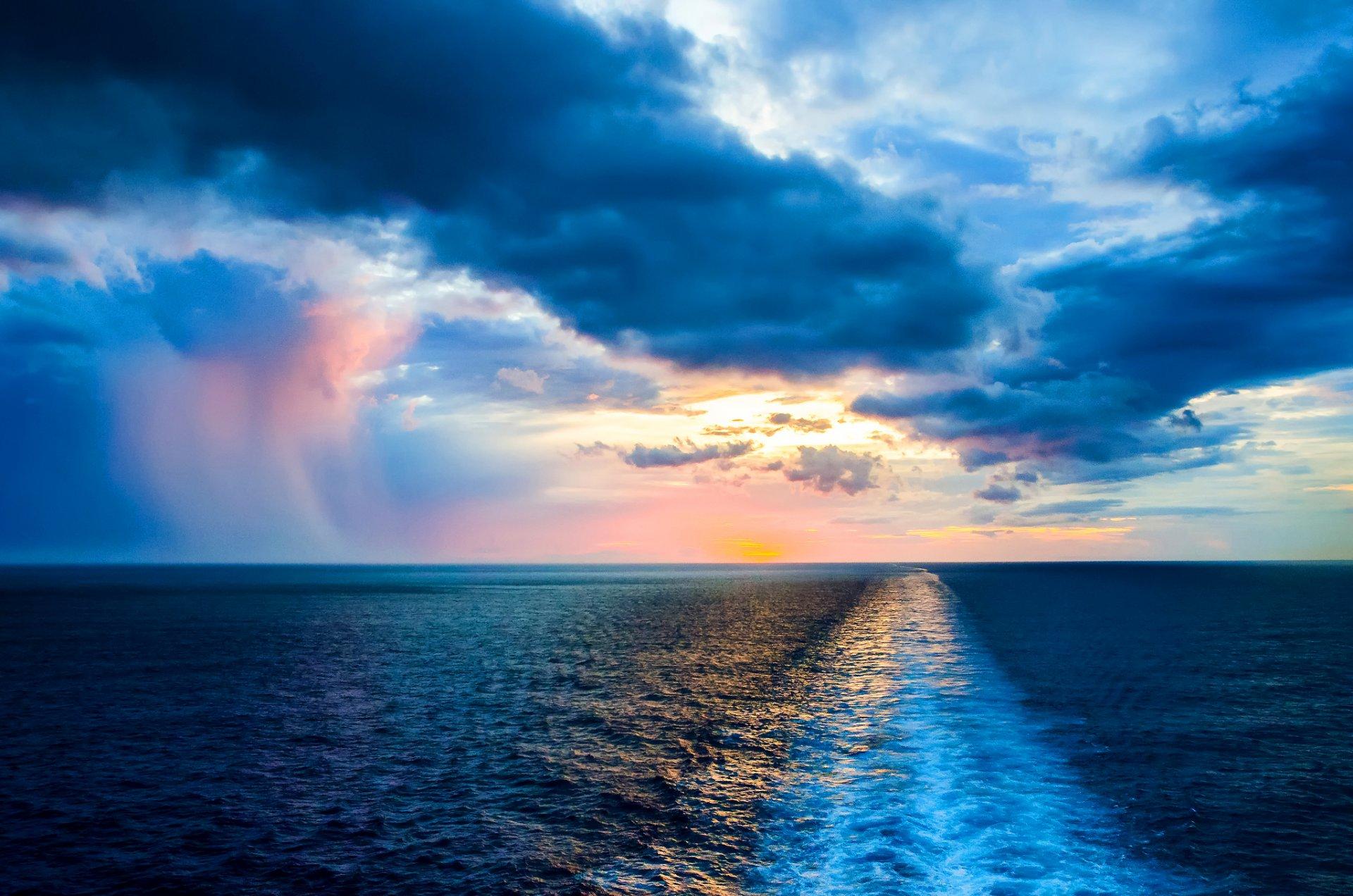 Обои волны, горизонт. Природа foto 15