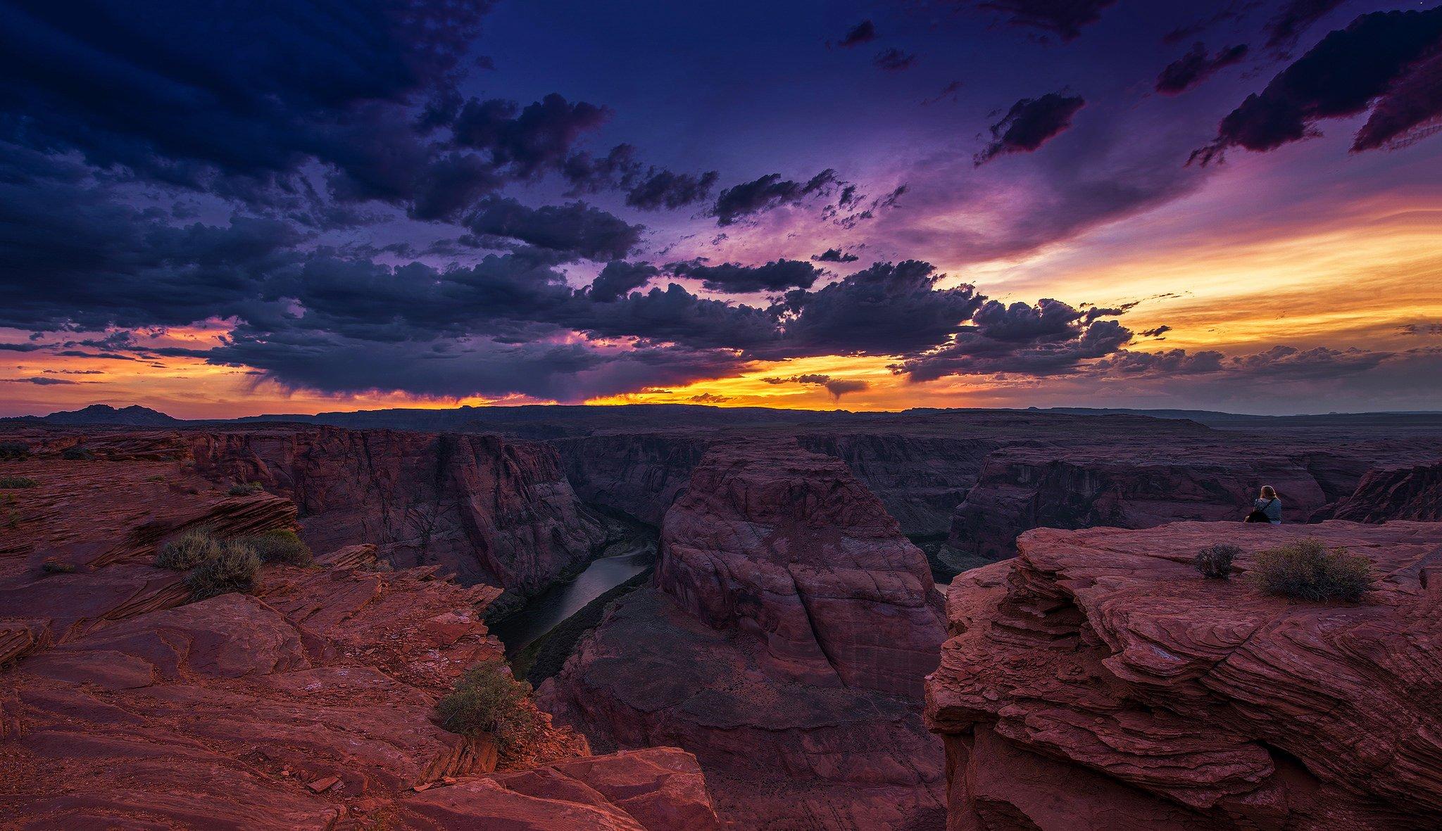 Закат над каньоном  № 241410  скачать