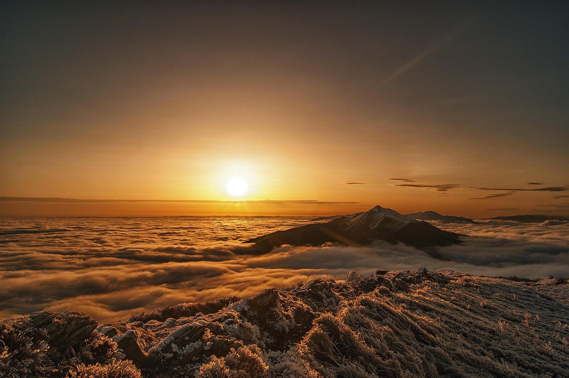 Картинки с восходом солнца в горах на море, днем