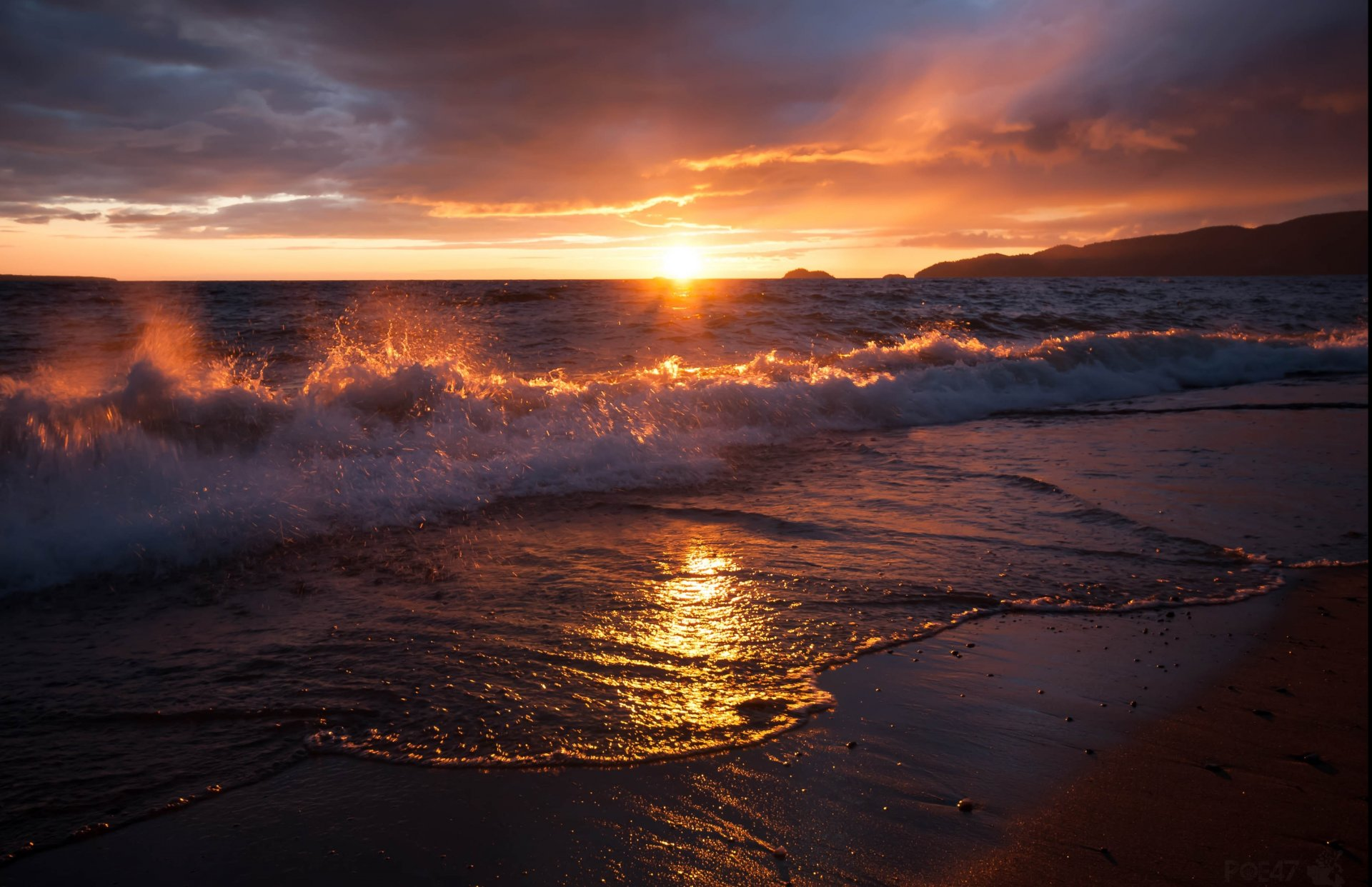 Самый красивый восход на море фото