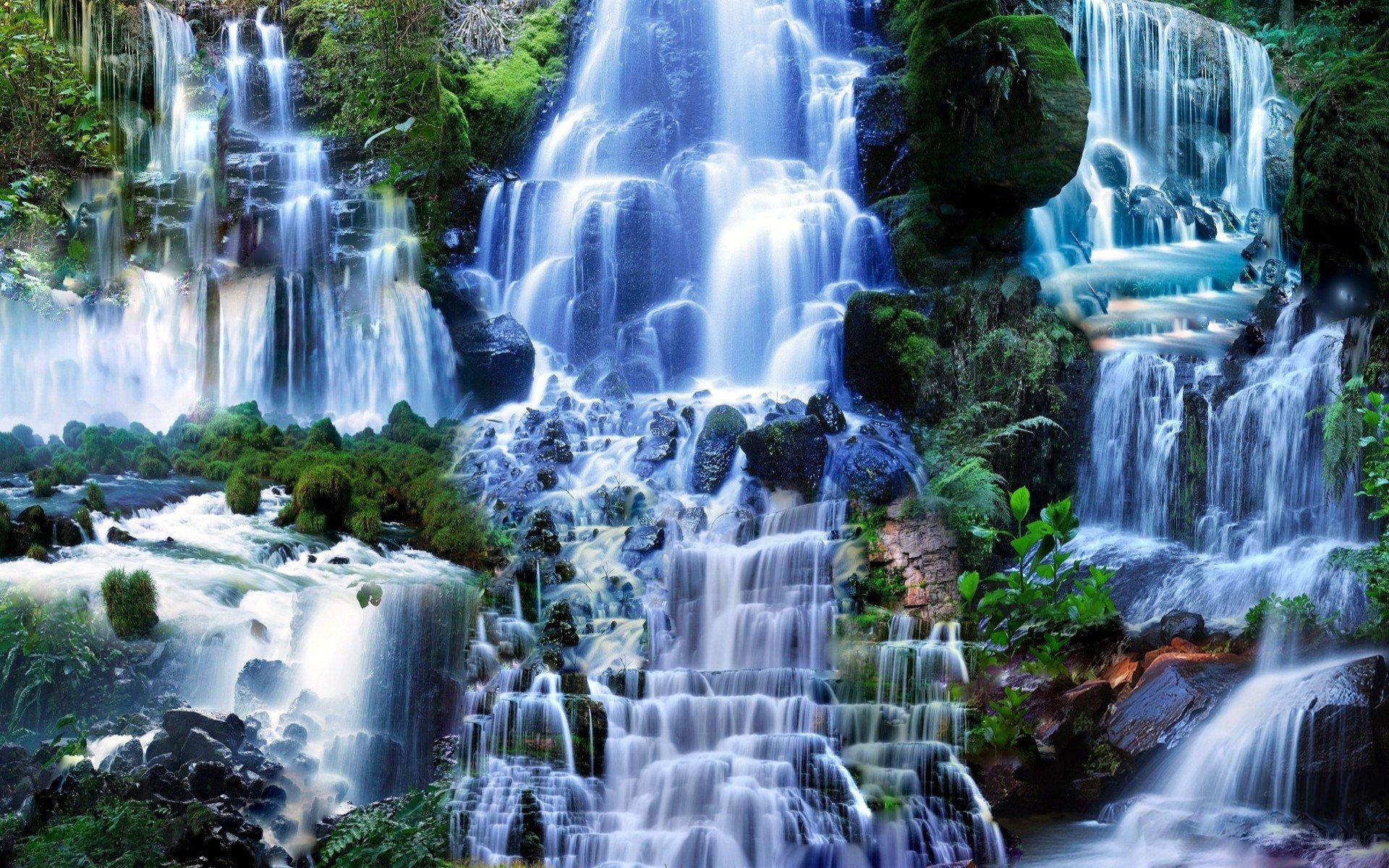 Живые обои на телефон водопады