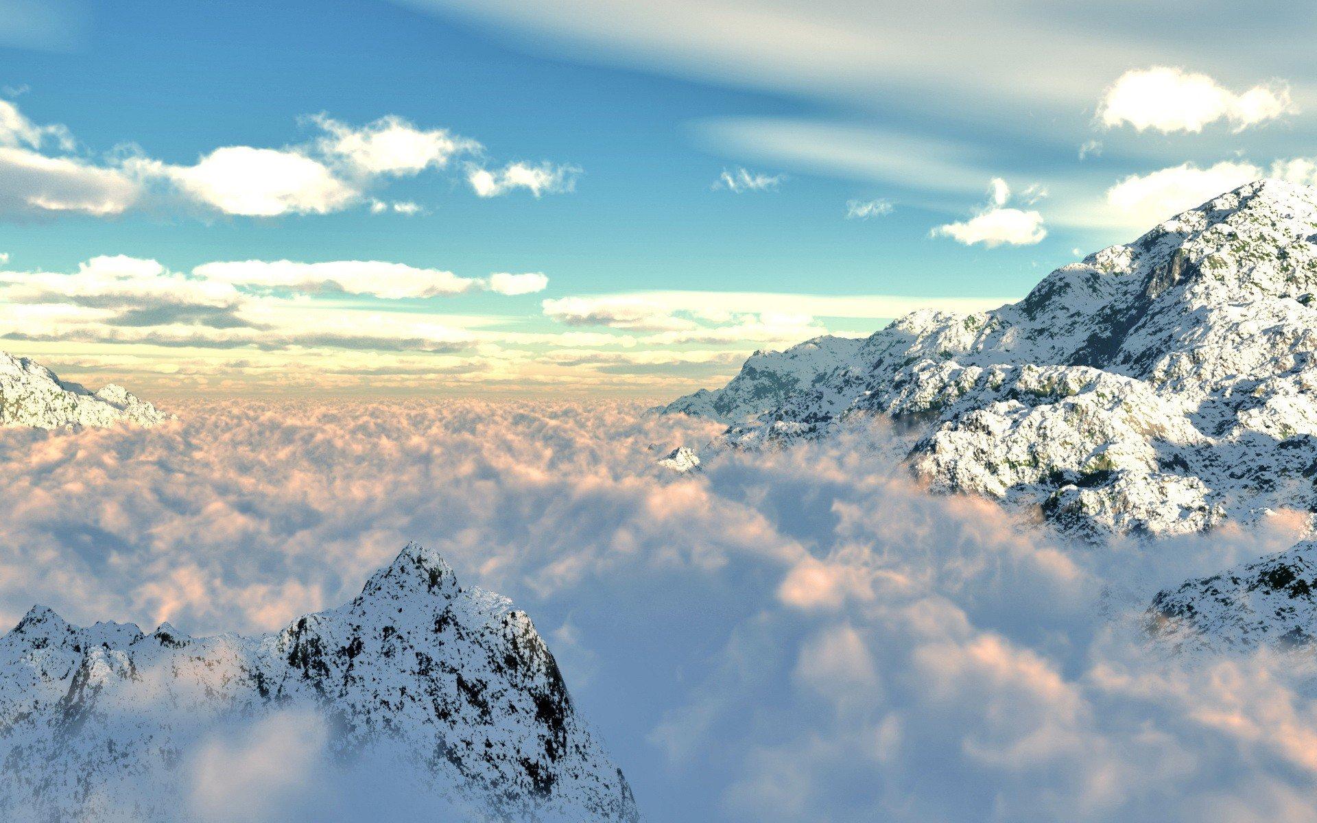 ване красивые картинки гор с облаками изобретения зубной