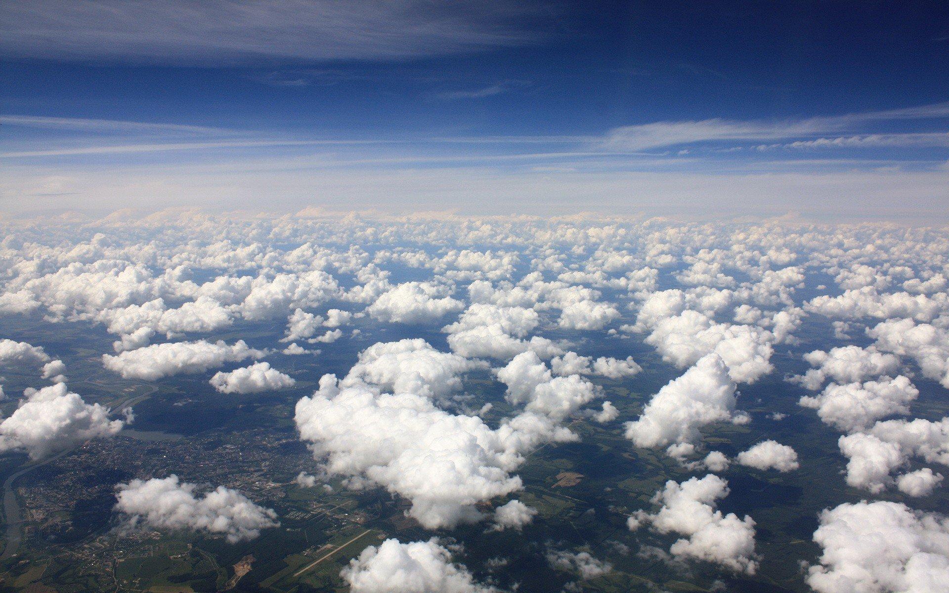 Обои Облака, красиво, ночь, высота. Авиация foto 13