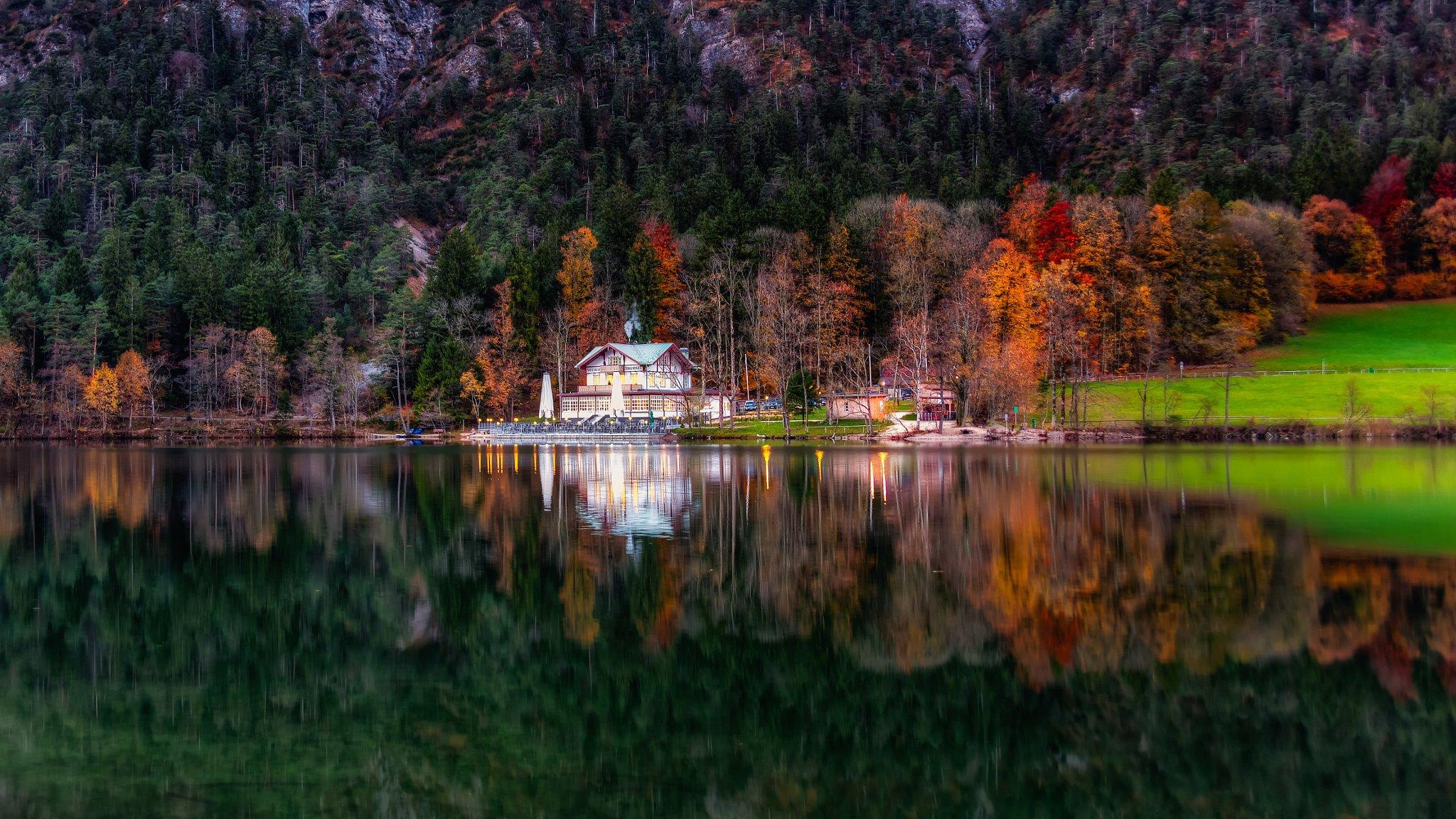 берег дома осень shore home autumn в хорошем качестве