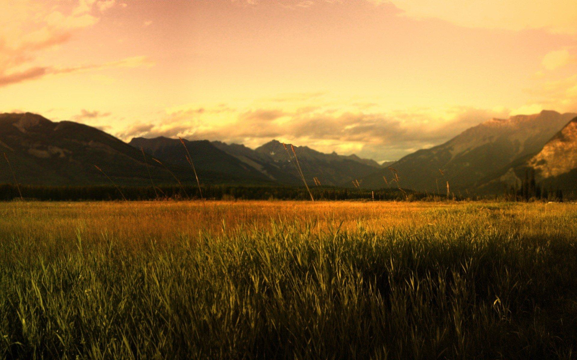 степь дом закат озеро трава скачать