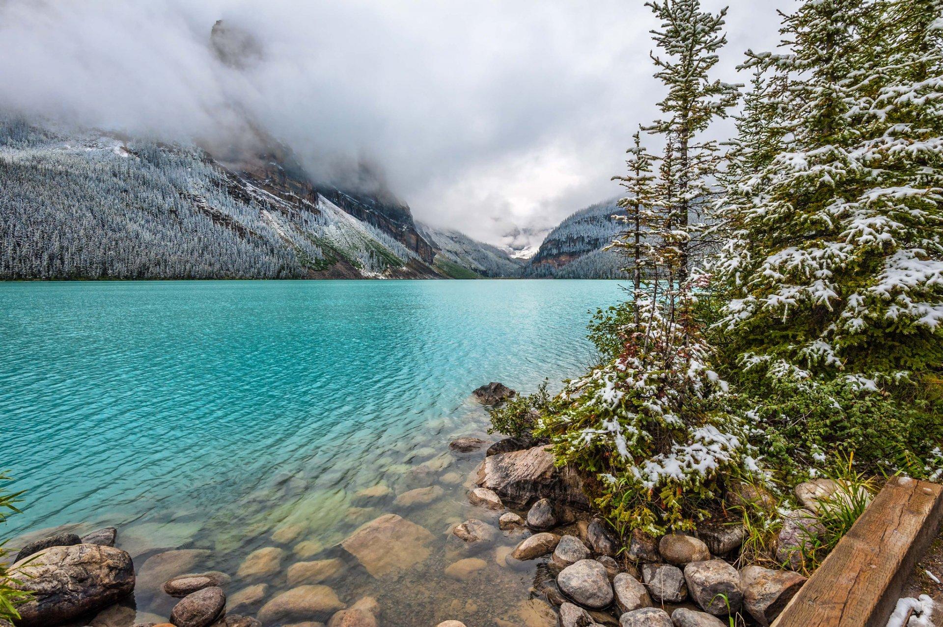 Пара на берегу горного озера  № 1609053 без смс