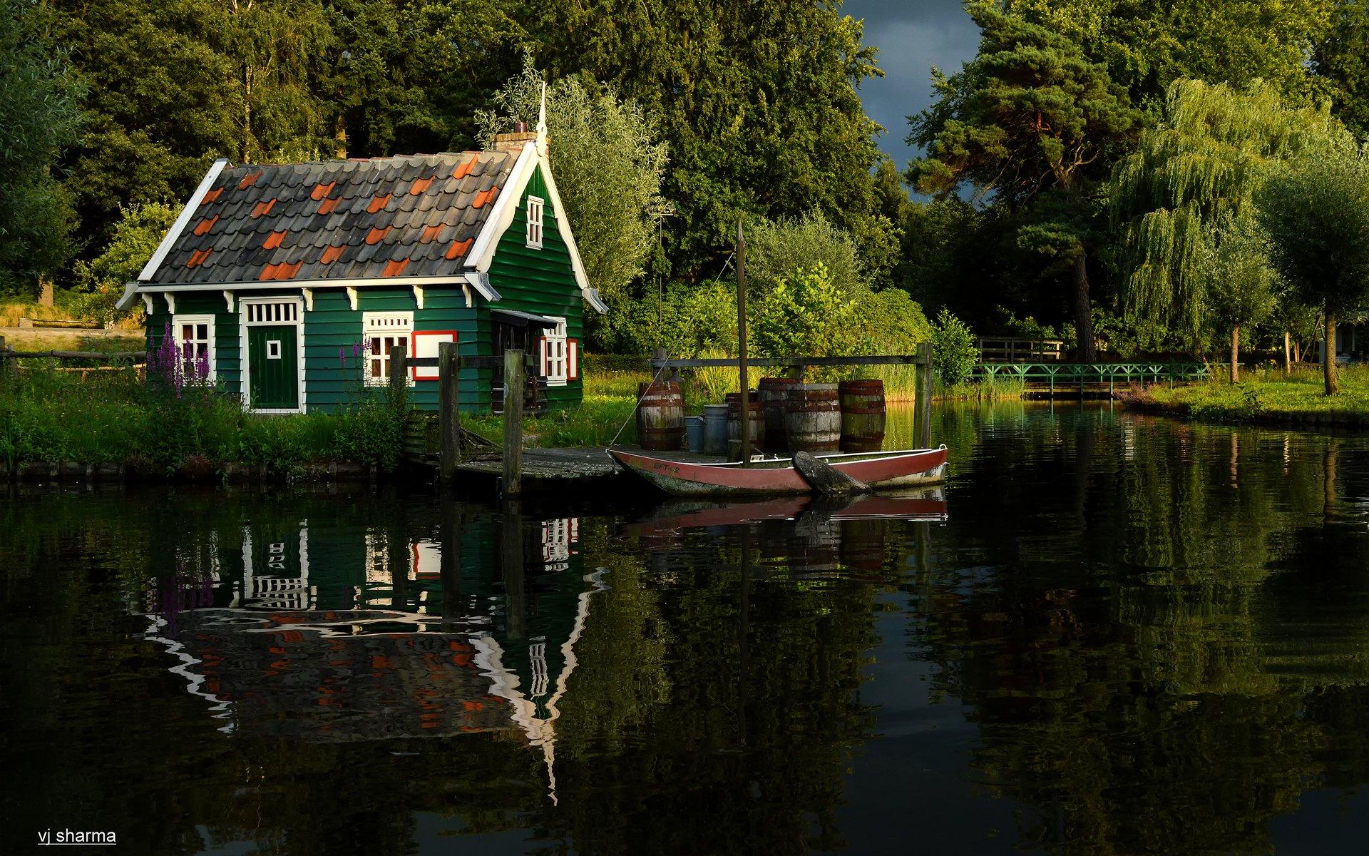 Озерцо возле дома, Англия  № 1486911 загрузить
