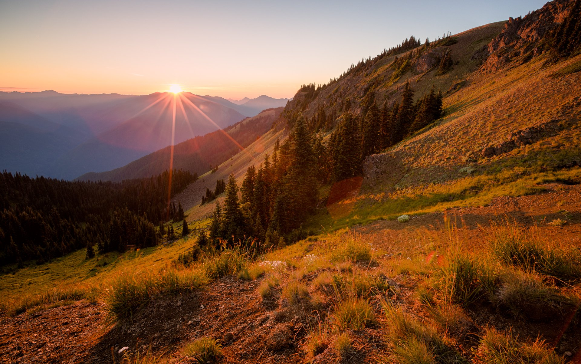 закат склон sunset the slope  № 1569262 бесплатно