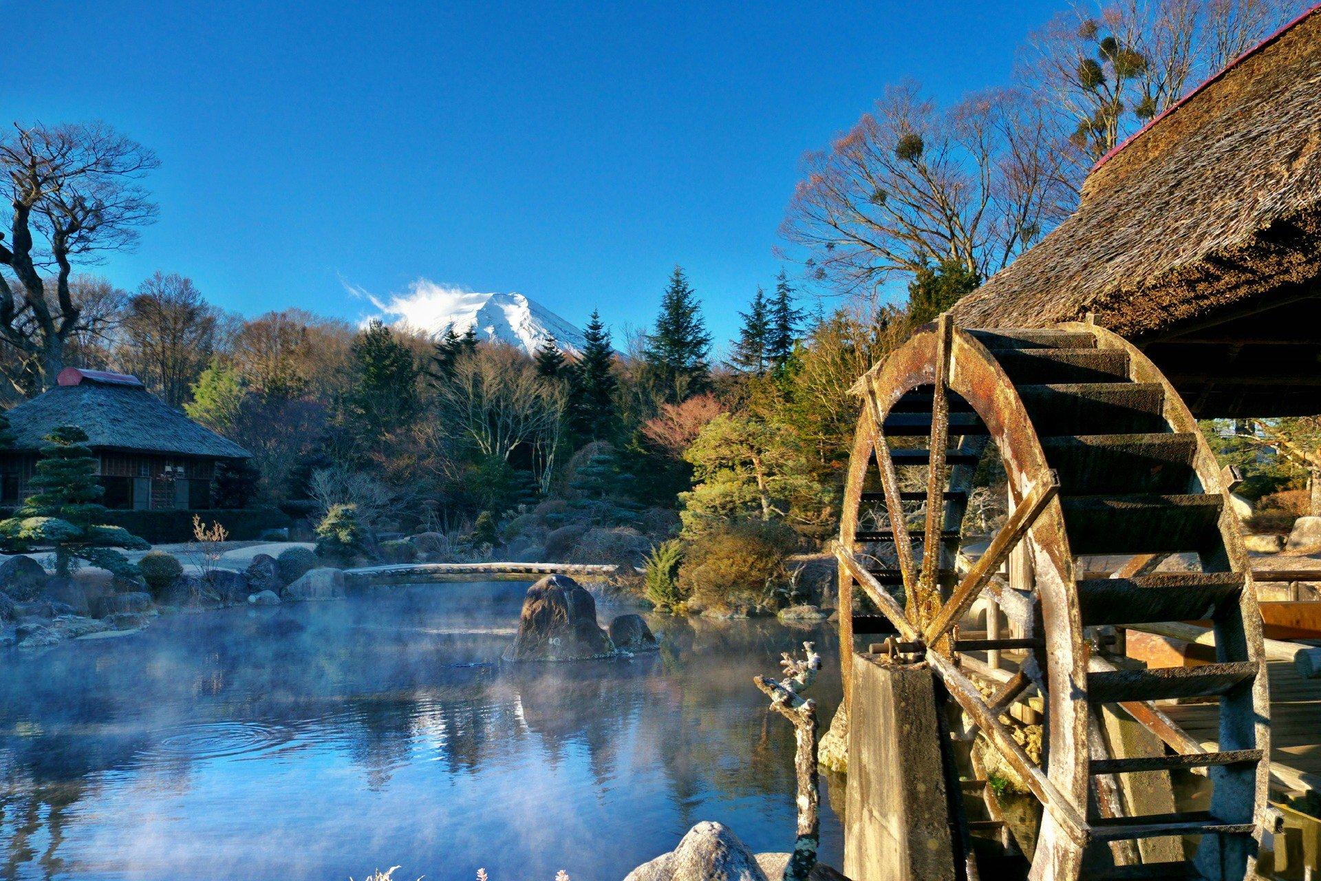 Водяная мельница красивые картинки