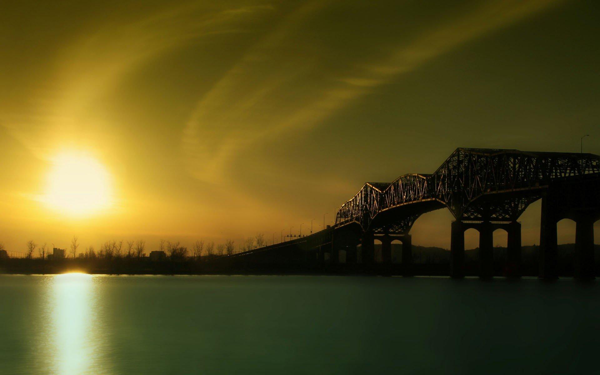 Мост река сумерки  № 3030693 без смс