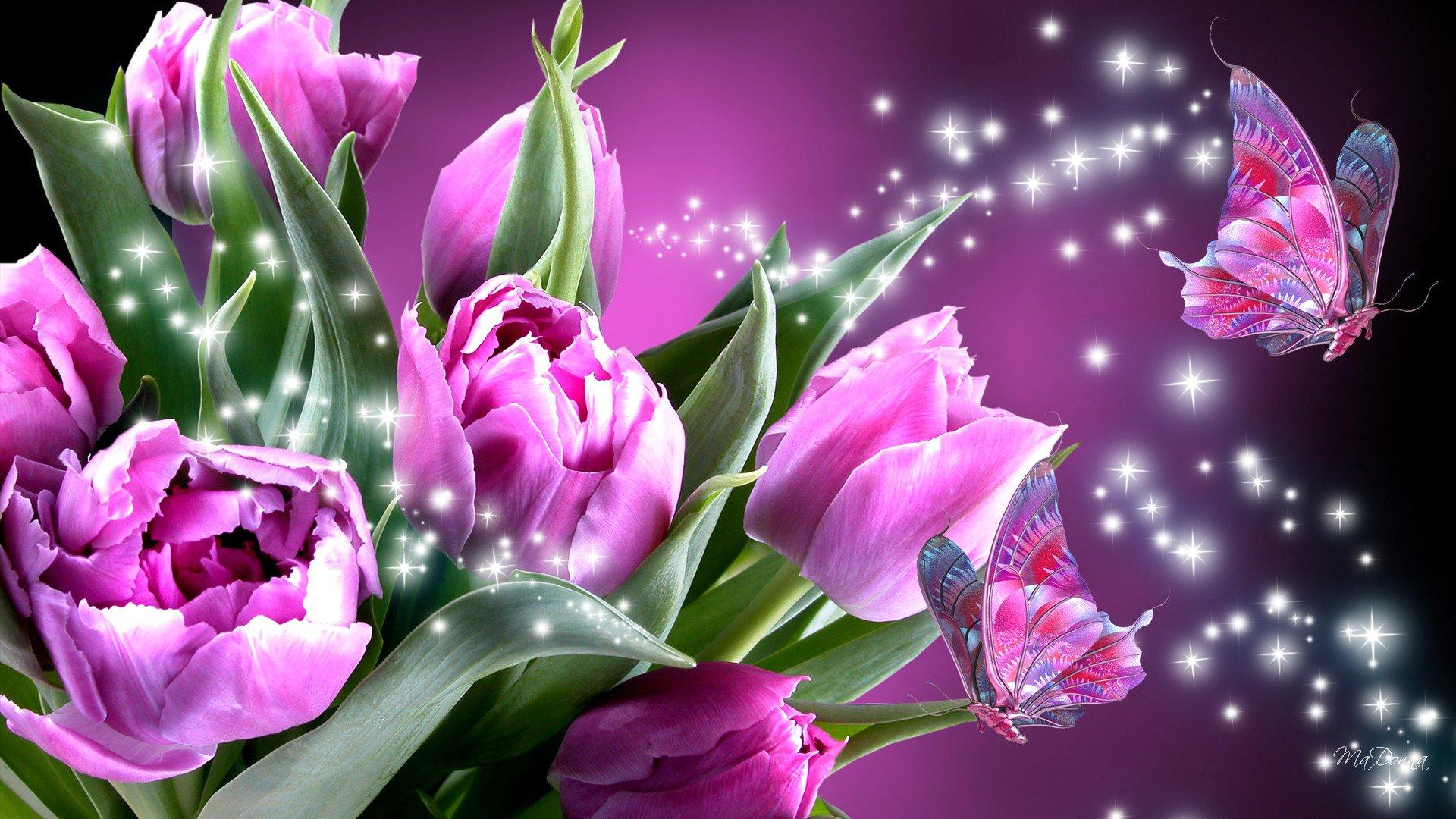 Обои Коллаж, крылья, цветы. Разное foto 13