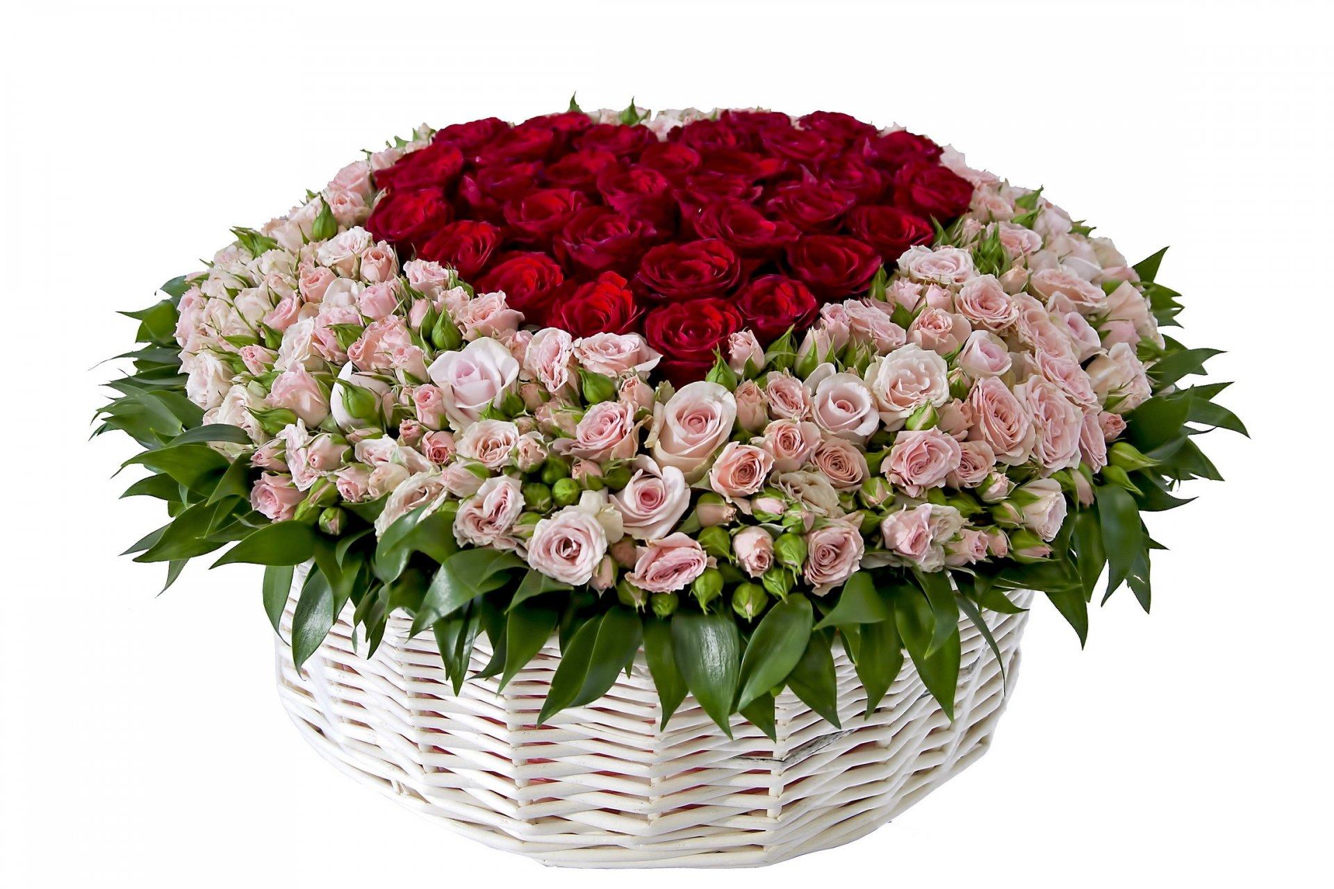 Открытка с розами букет 583