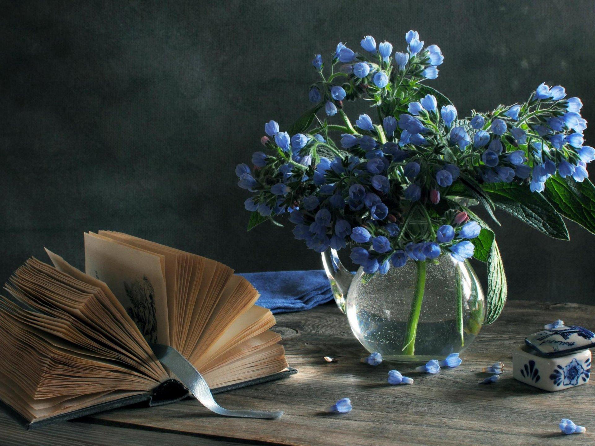 Обои книги, стиль, винтаж, цветы, кувшины. Разное foto 11