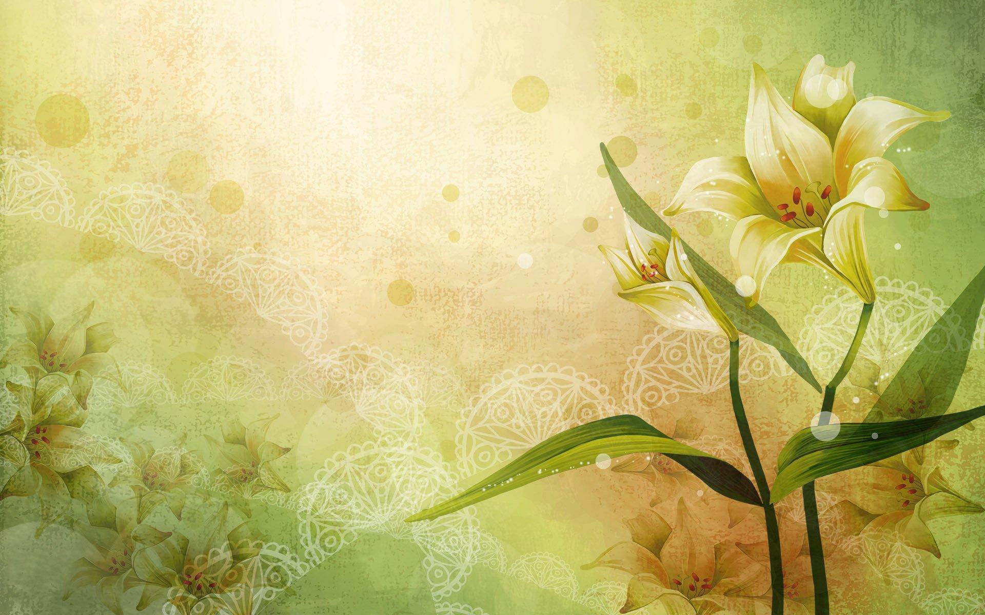 Обои вектор, абстракция, цветы, открытка. Разное foto 14