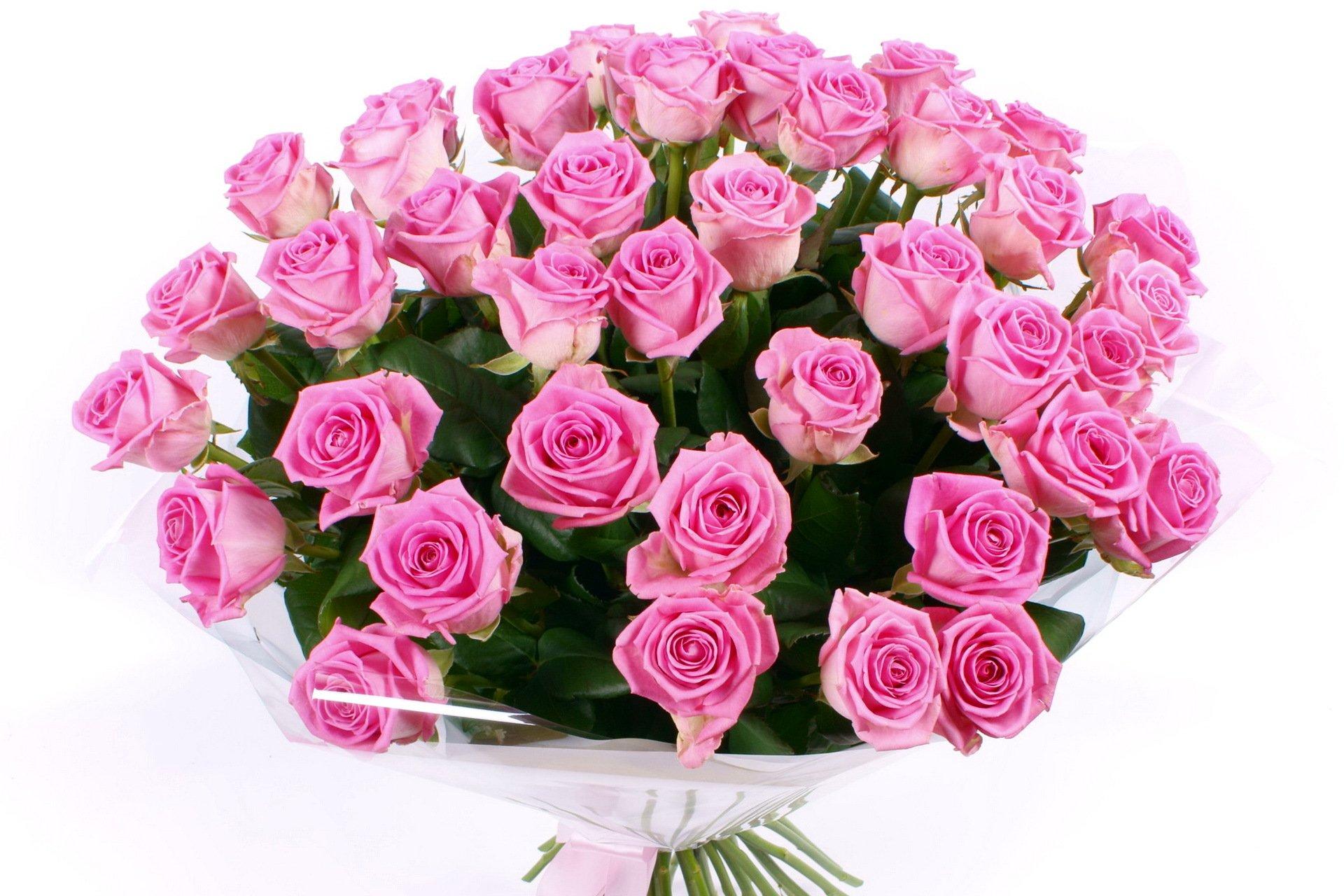 Открытка с днем рождения много цветов 46