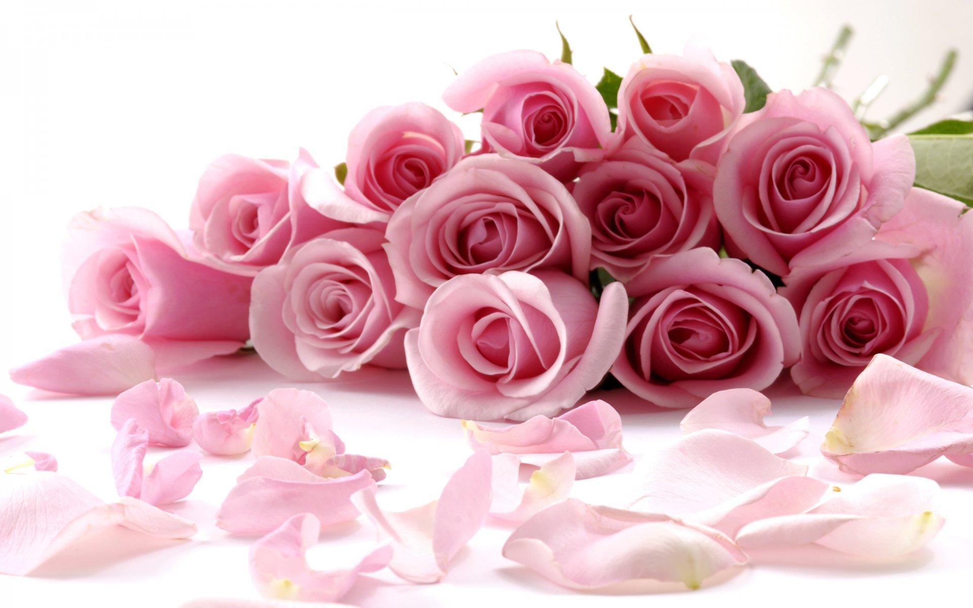 Открытка с розами букет 448