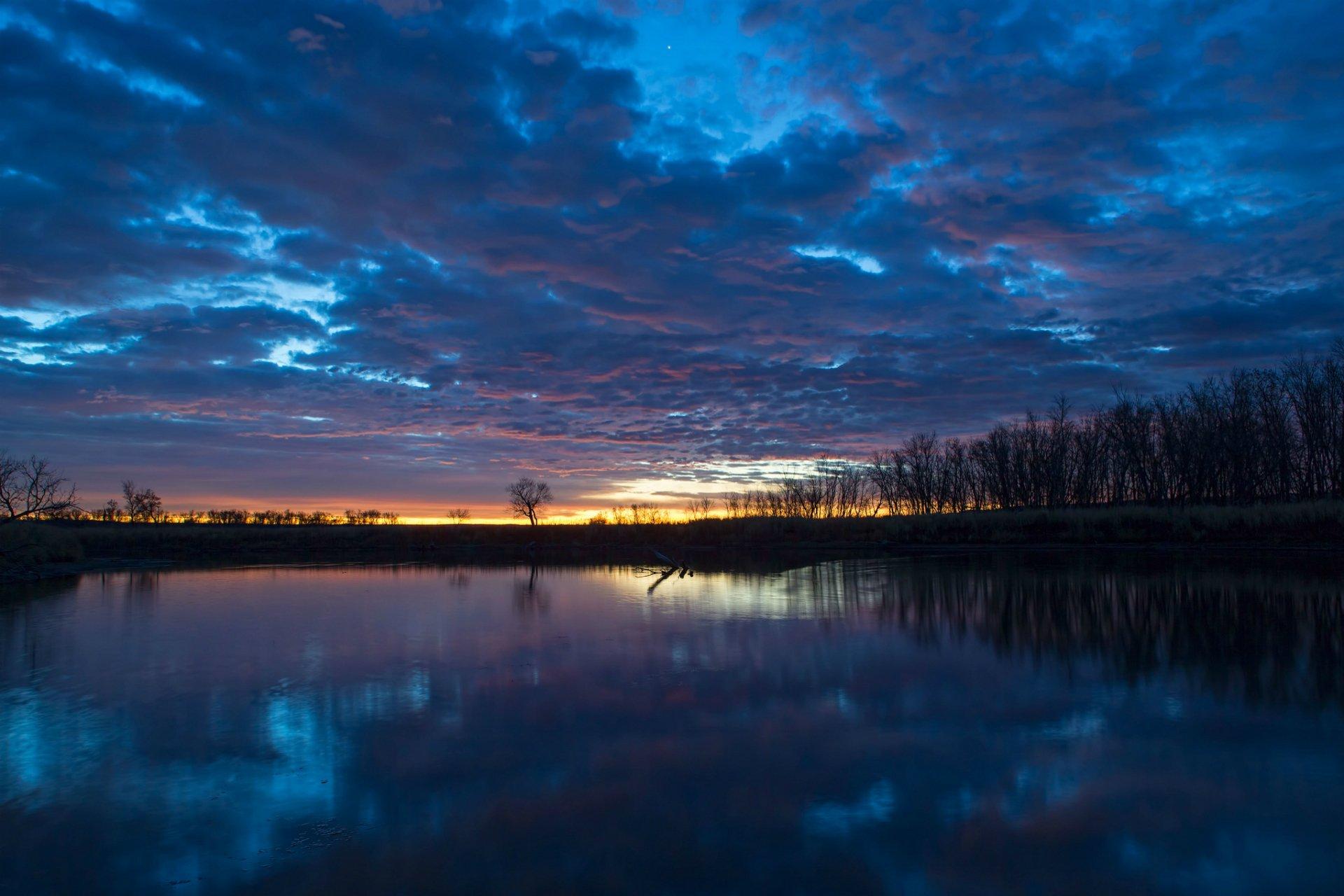 природа облака солнце река загрузить