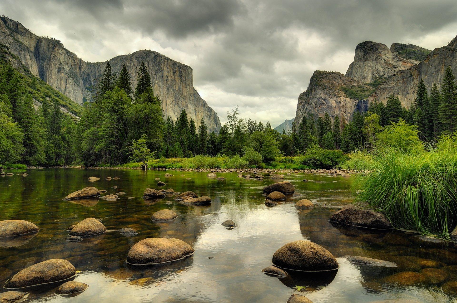 природа река камни трава Сноудон гора загрузить