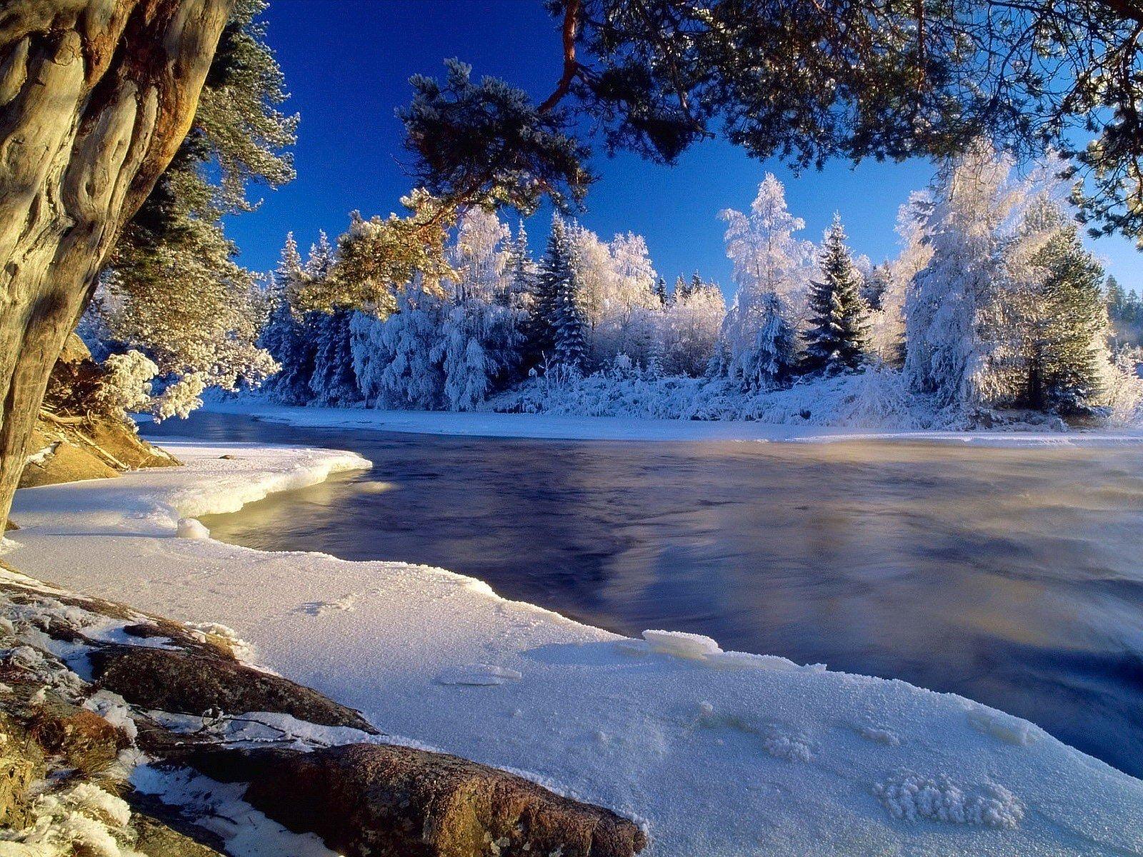 Гифы зимние пейзажи красивые, для