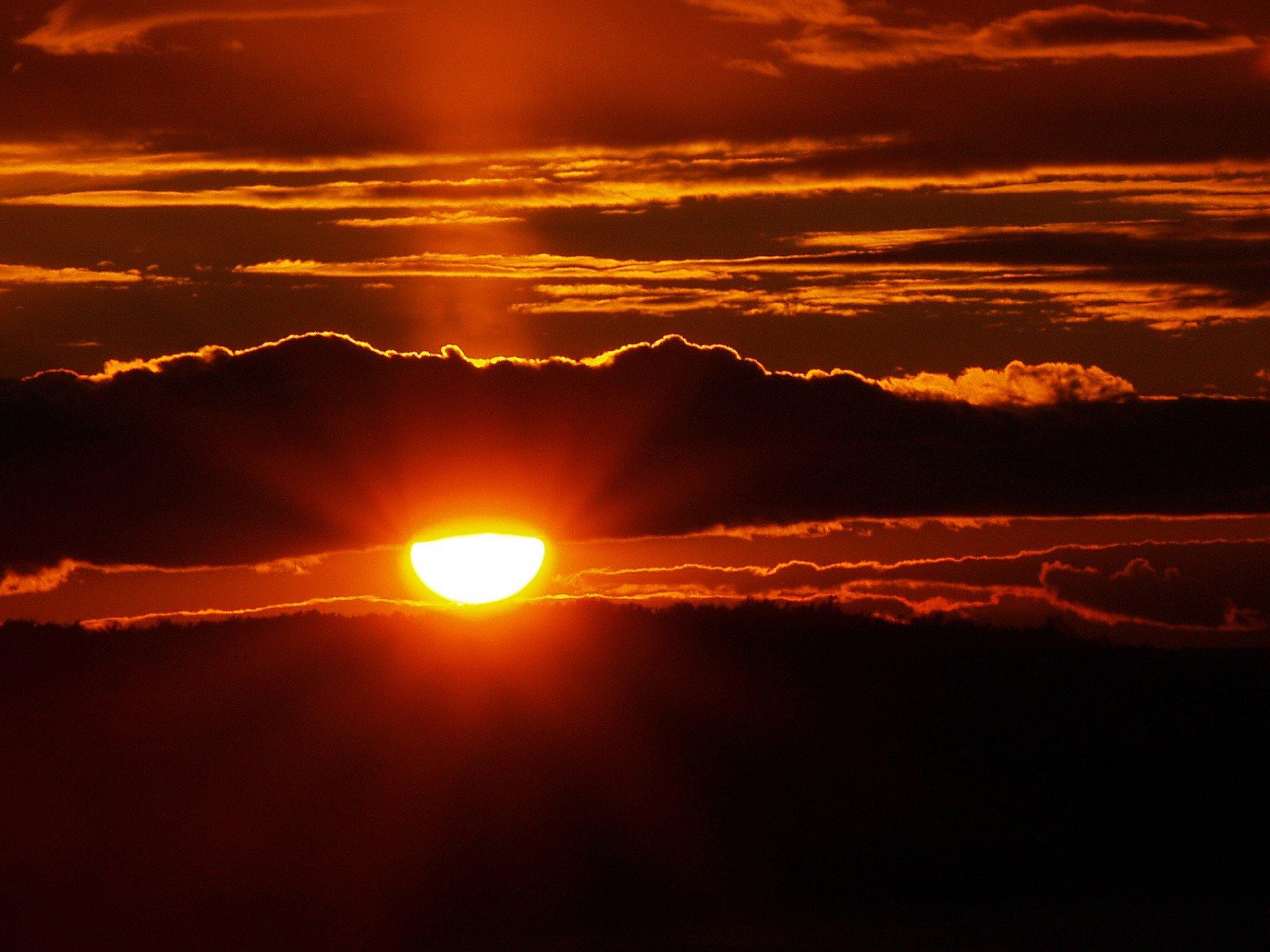 закат солнце облака  № 3852017  скачать