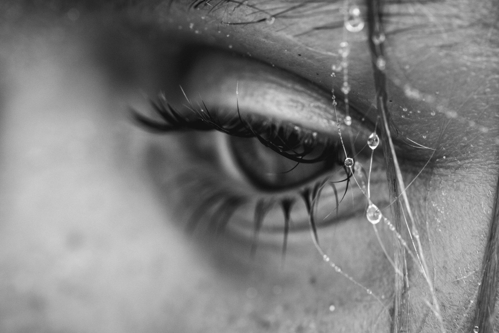 Открытки слезы на глазах