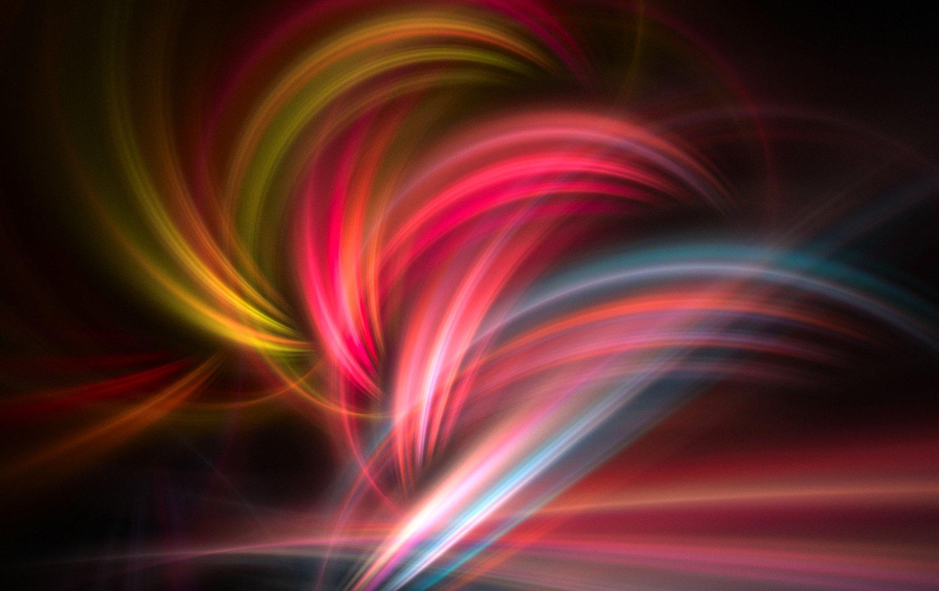 Обои волна, полумрак, дым, Цвет, свет. Абстракции foto 17