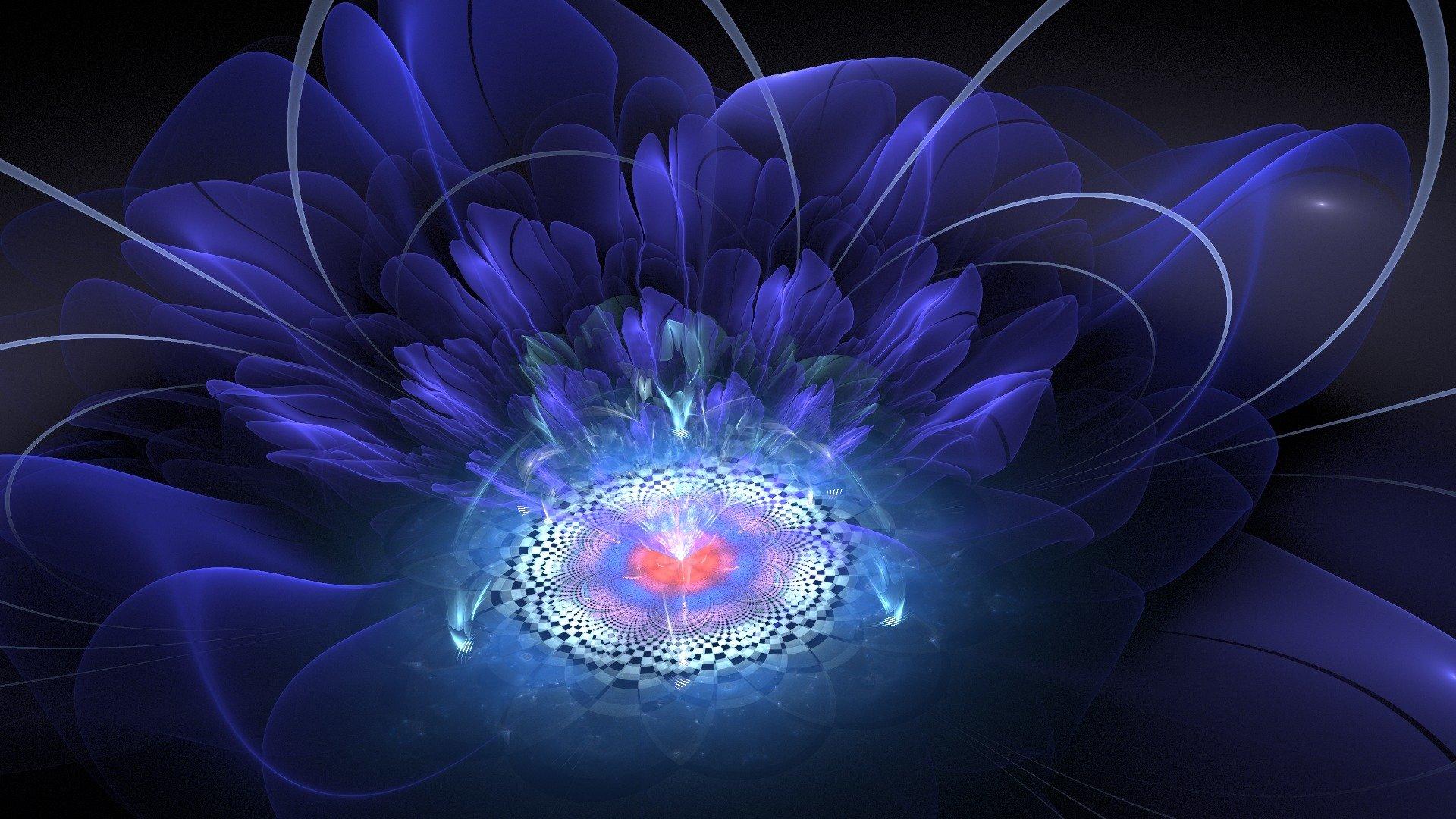 Обои цветок, краски, фрактал. Абстракции foto 10