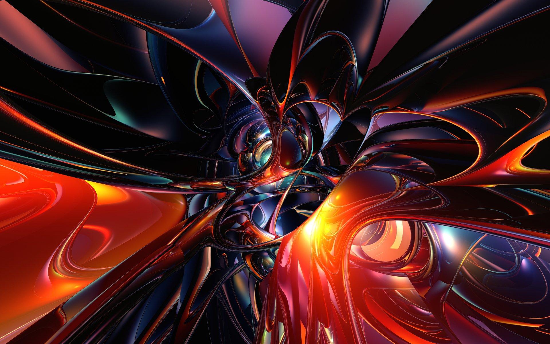 фрактал абстракция красная  № 3675183 бесплатно
