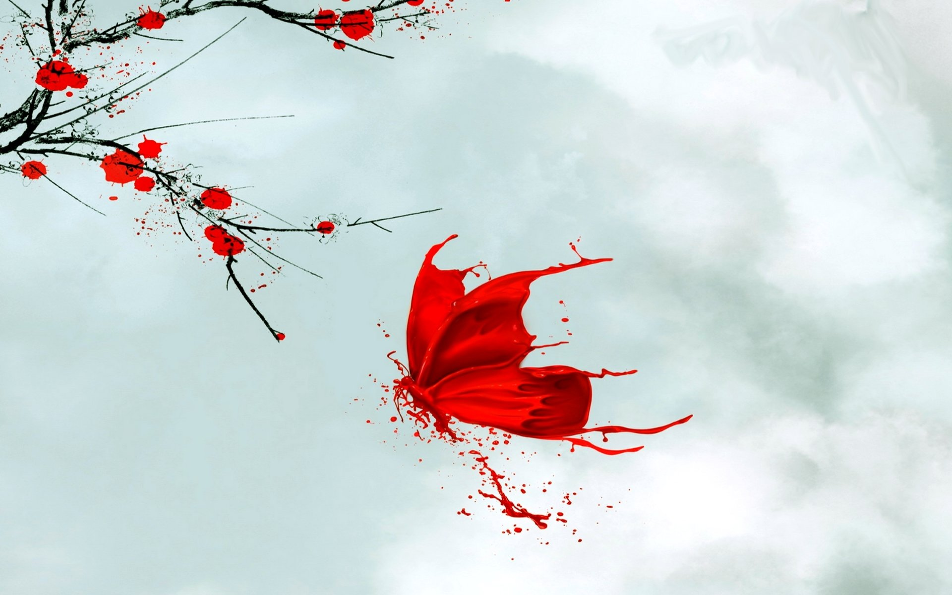 природа цветы белые красные скачать
