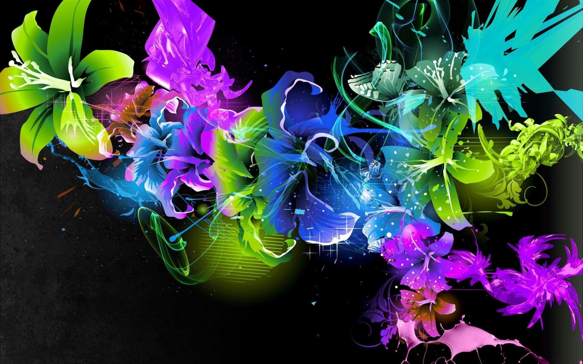 абстракция цветок частицы скачать