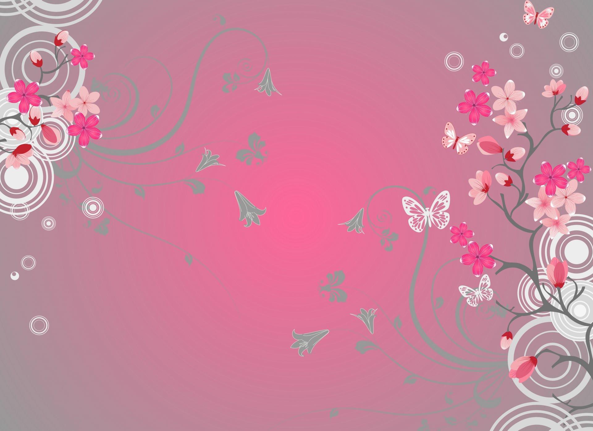 красивые рисунки розовые слова