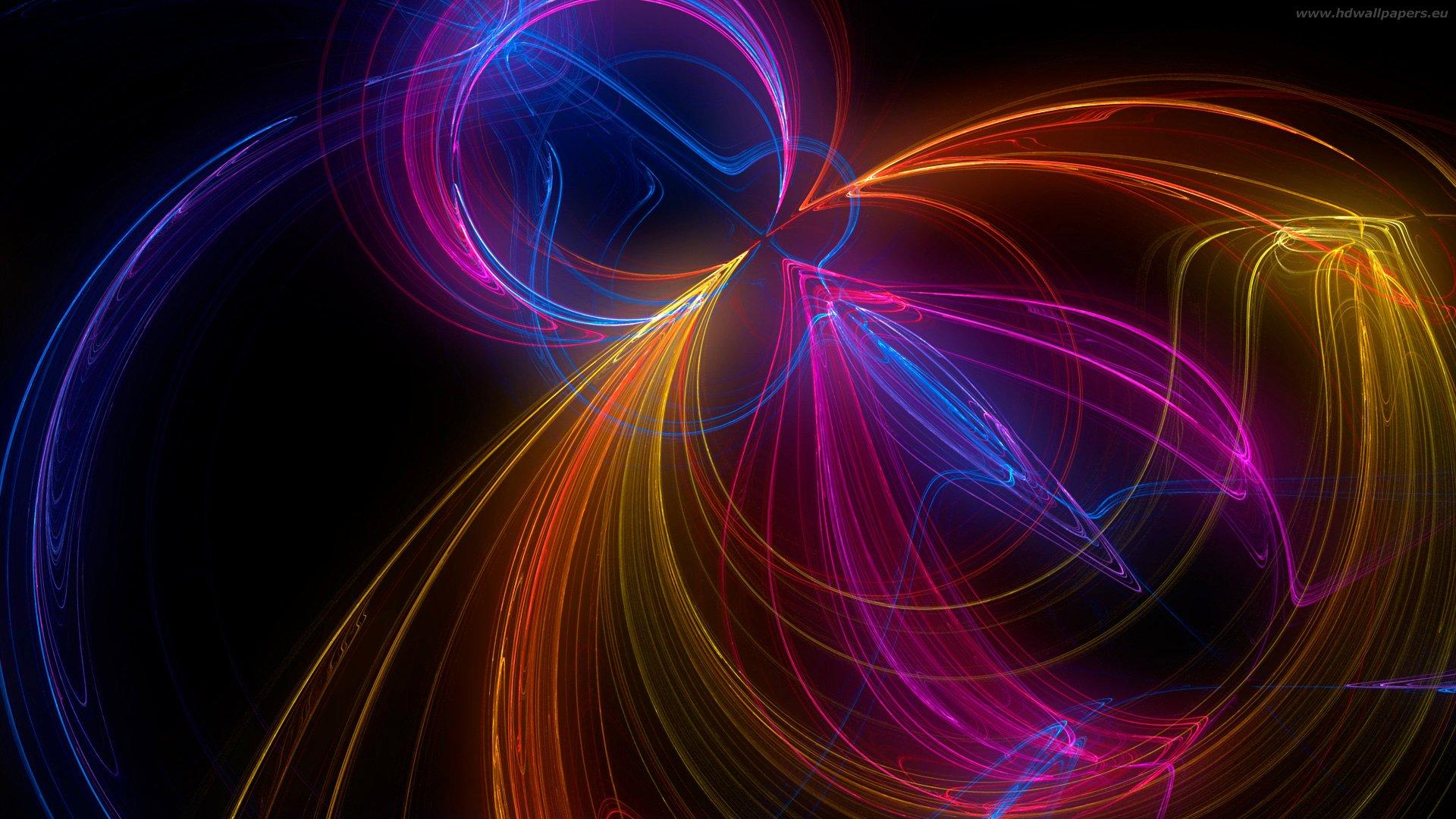 Обои свет, лучи, Цвет, фрактал, узор. Абстракции foto 18