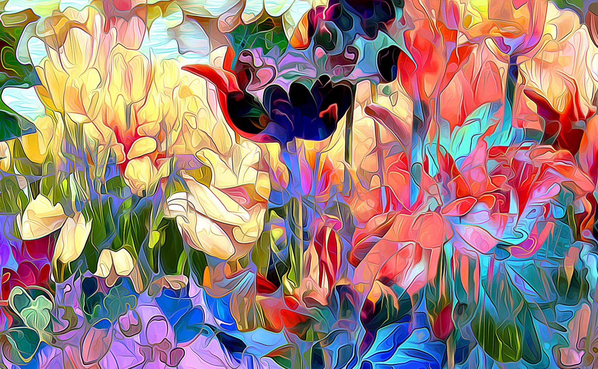 многих красивые постеры с цветами цветовые
