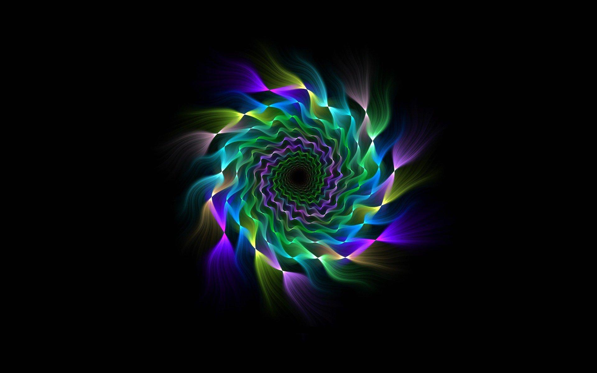 Обои свет, лучи, Цвет, фрактал, узор. Абстракции foto 17