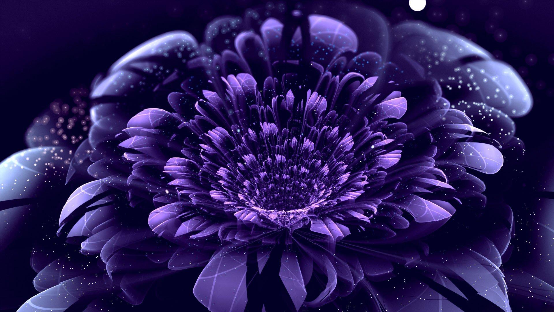 цветок сиреневый абстракция без смс