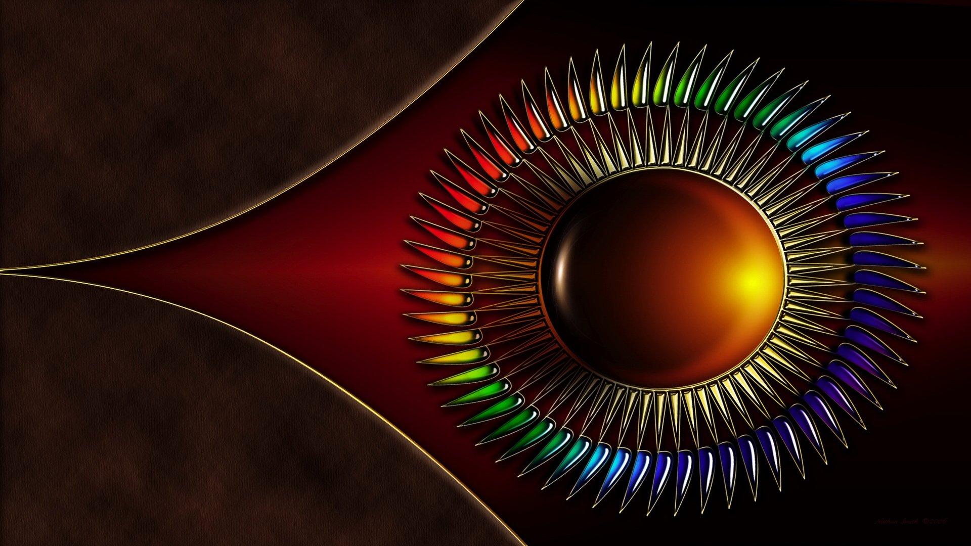 Фигура круг коричневый  № 2279597 бесплатно