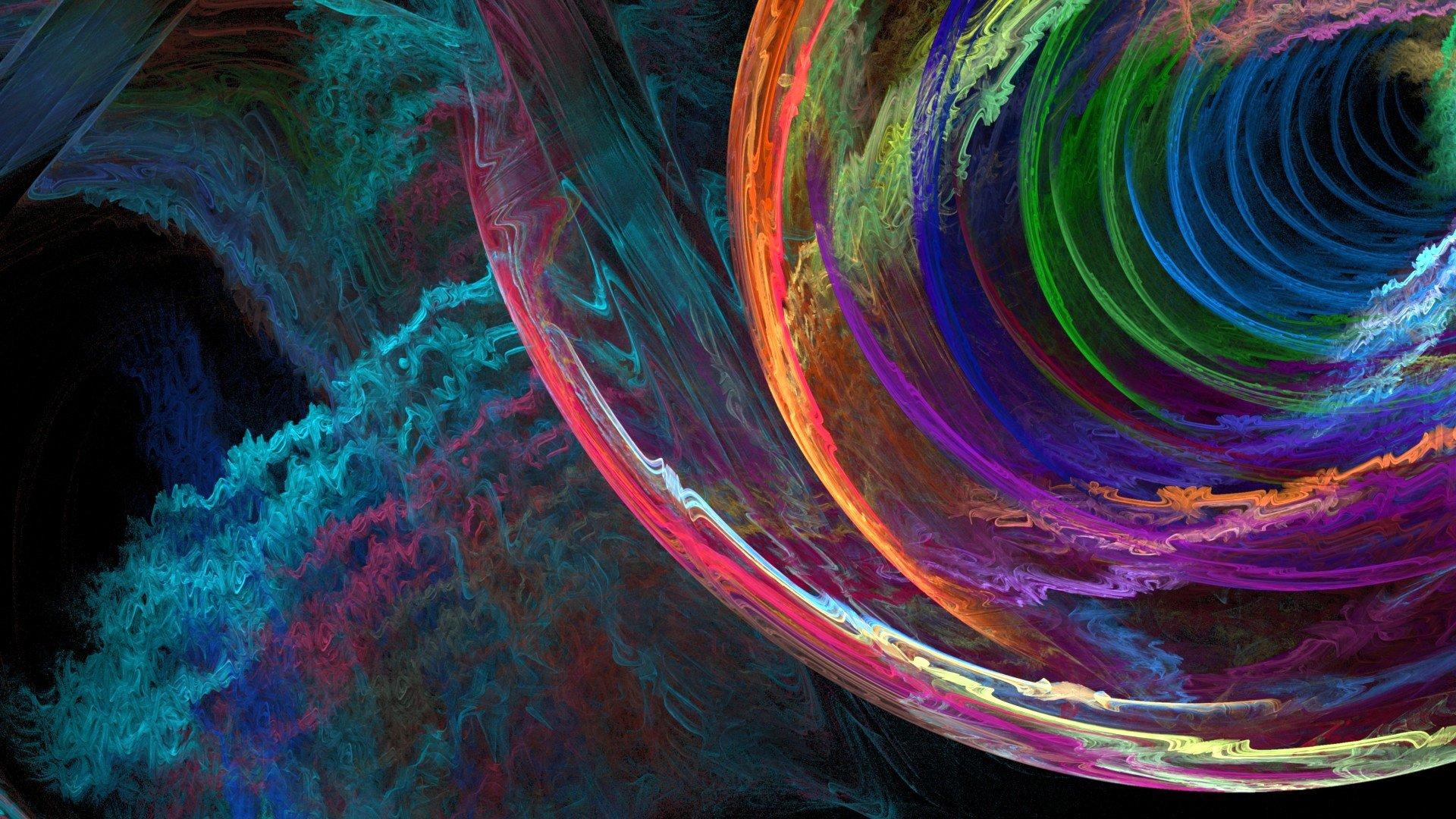 Обои волна, полумрак, дым, Цвет, свет. Абстракции foto 16