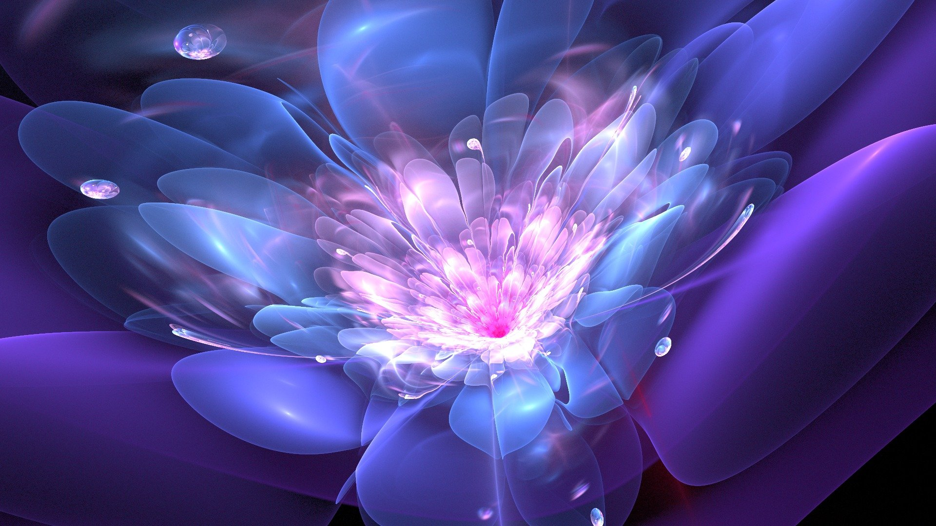 Обои цветок, краски, фрактал. Абстракции foto 12