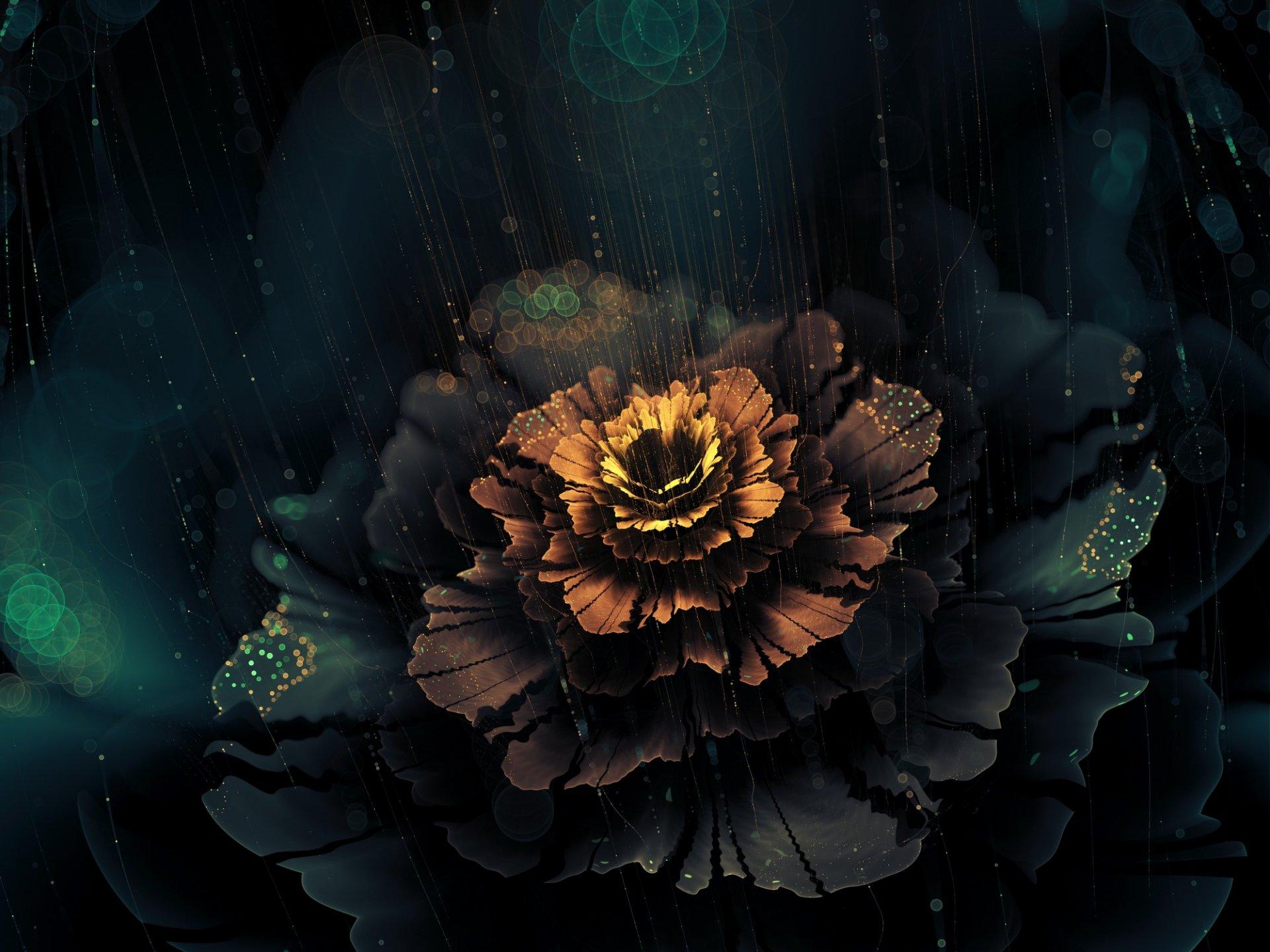 графика цветы абстракция 3D загрузить