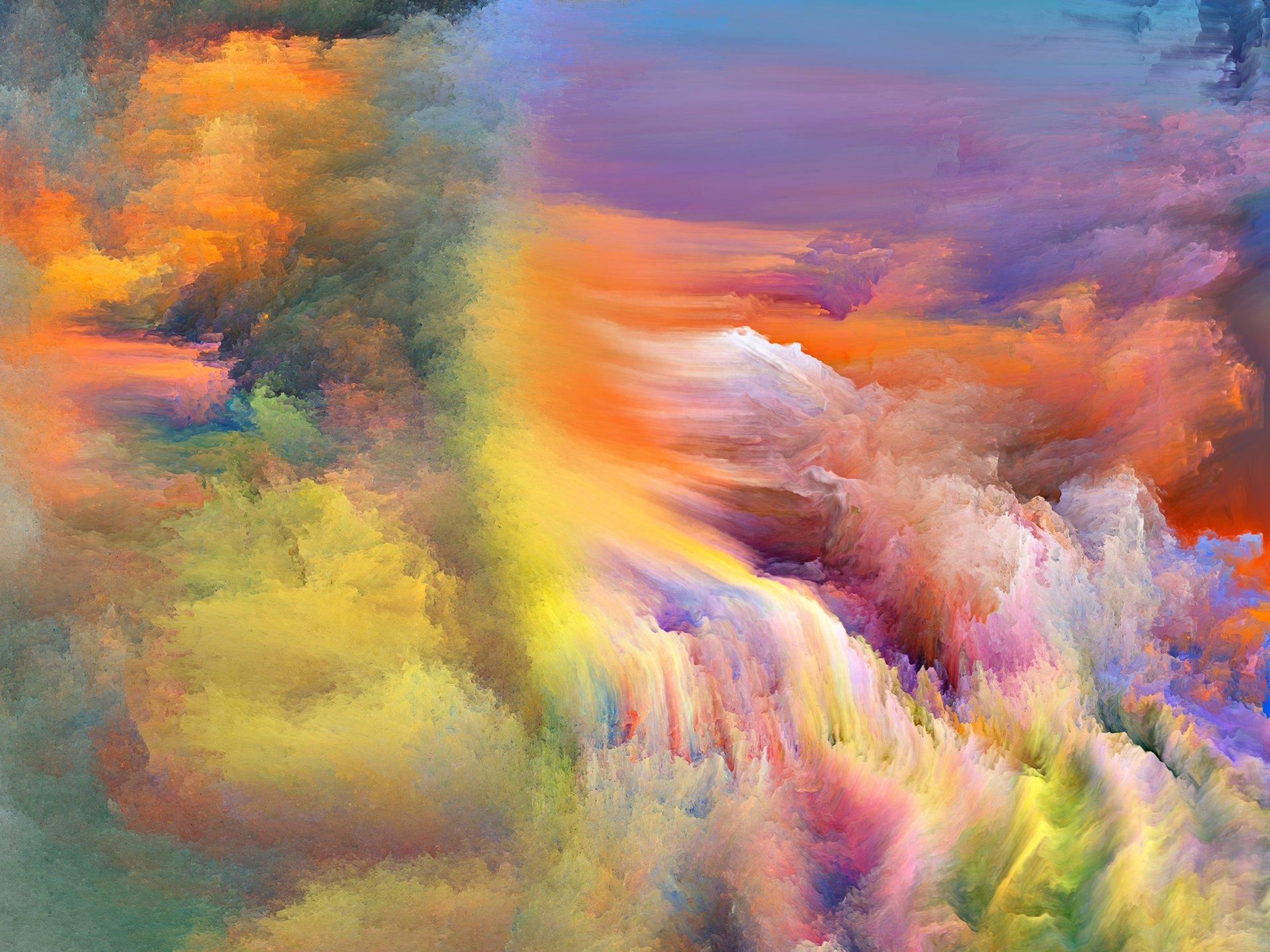 Обои свет, дым, Пятна, краски, яркость. Абстракции foto 7
