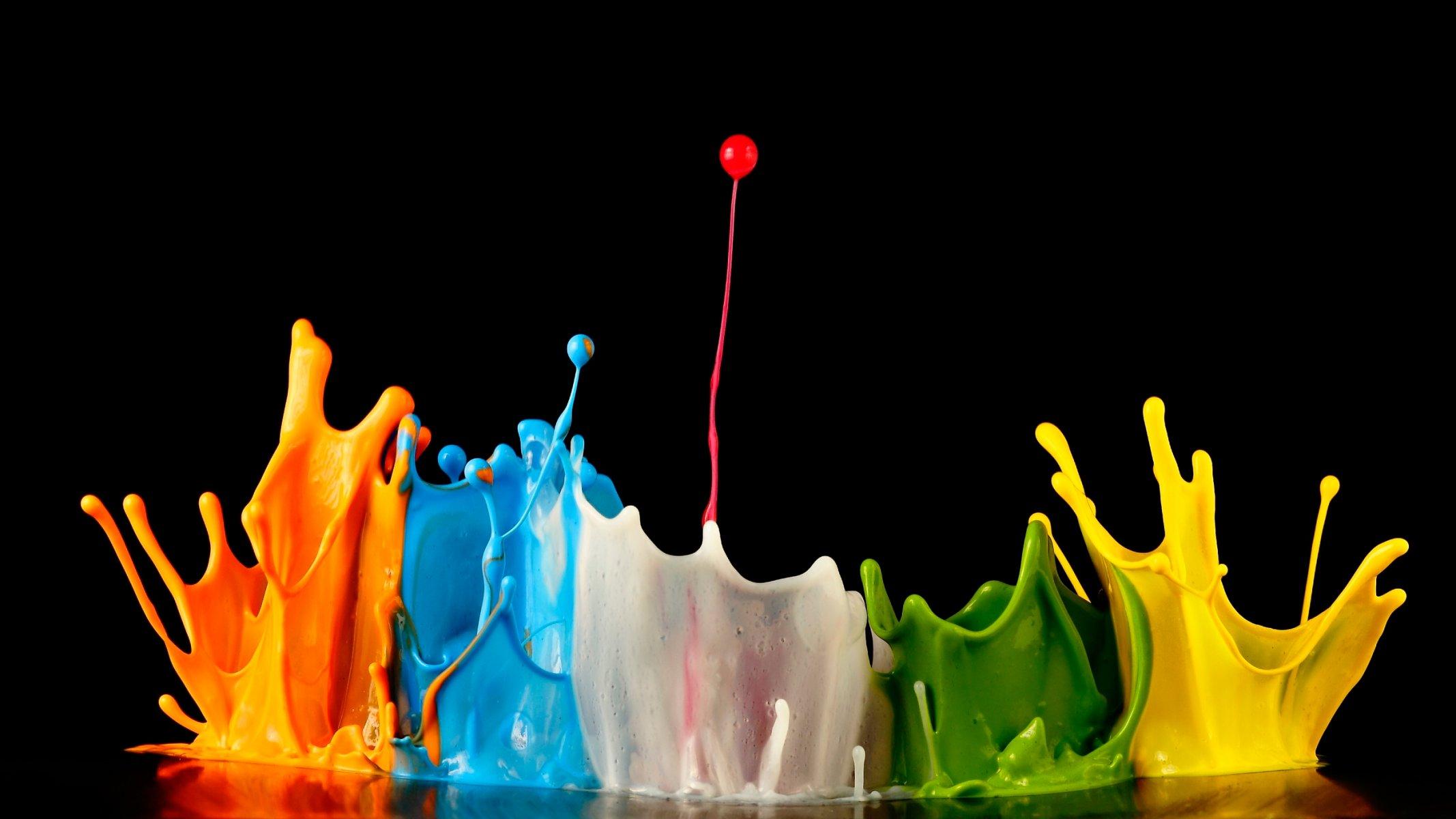 Разлитая краска картинки