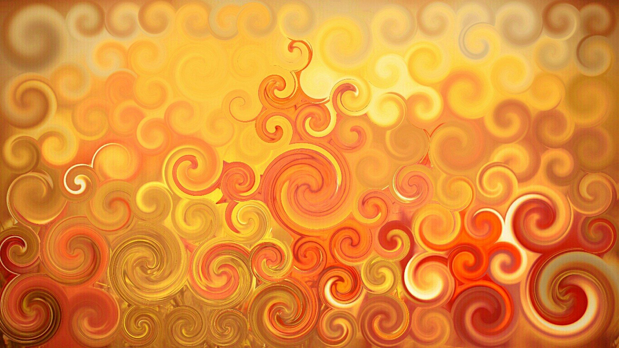 Яркий янтарный свет абстракции без смс