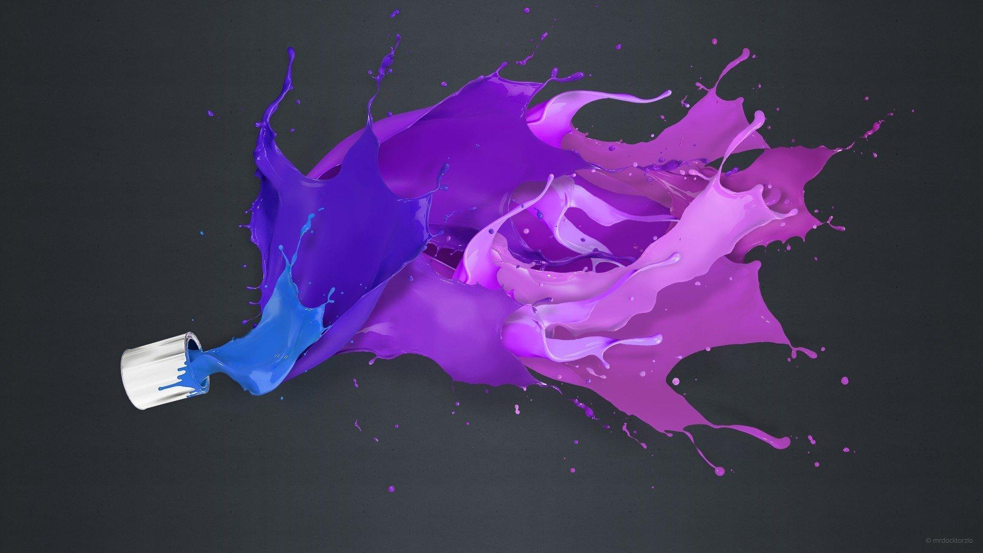 краски цвета всплеск фон HD обои для ноутбука