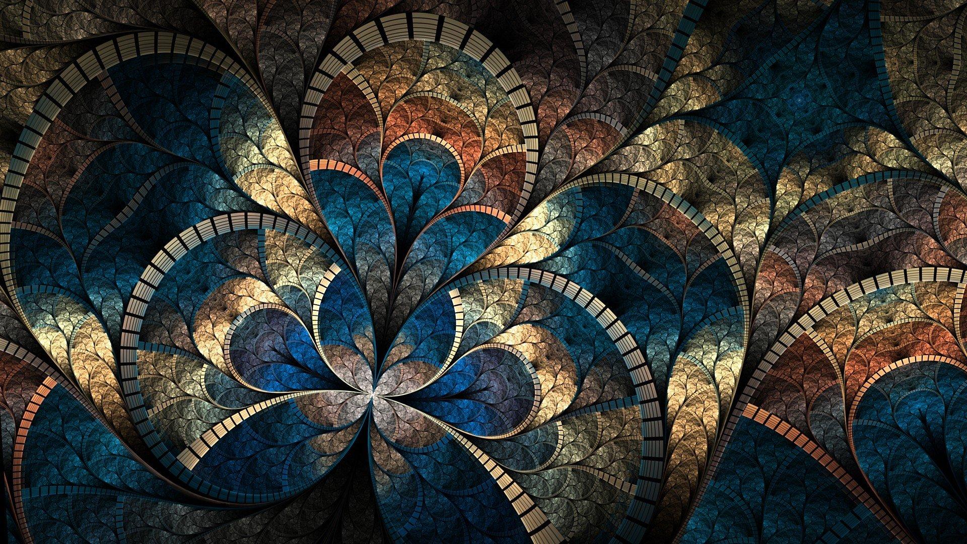 Обои фрактал, Цвет, узор. Абстракции foto 19