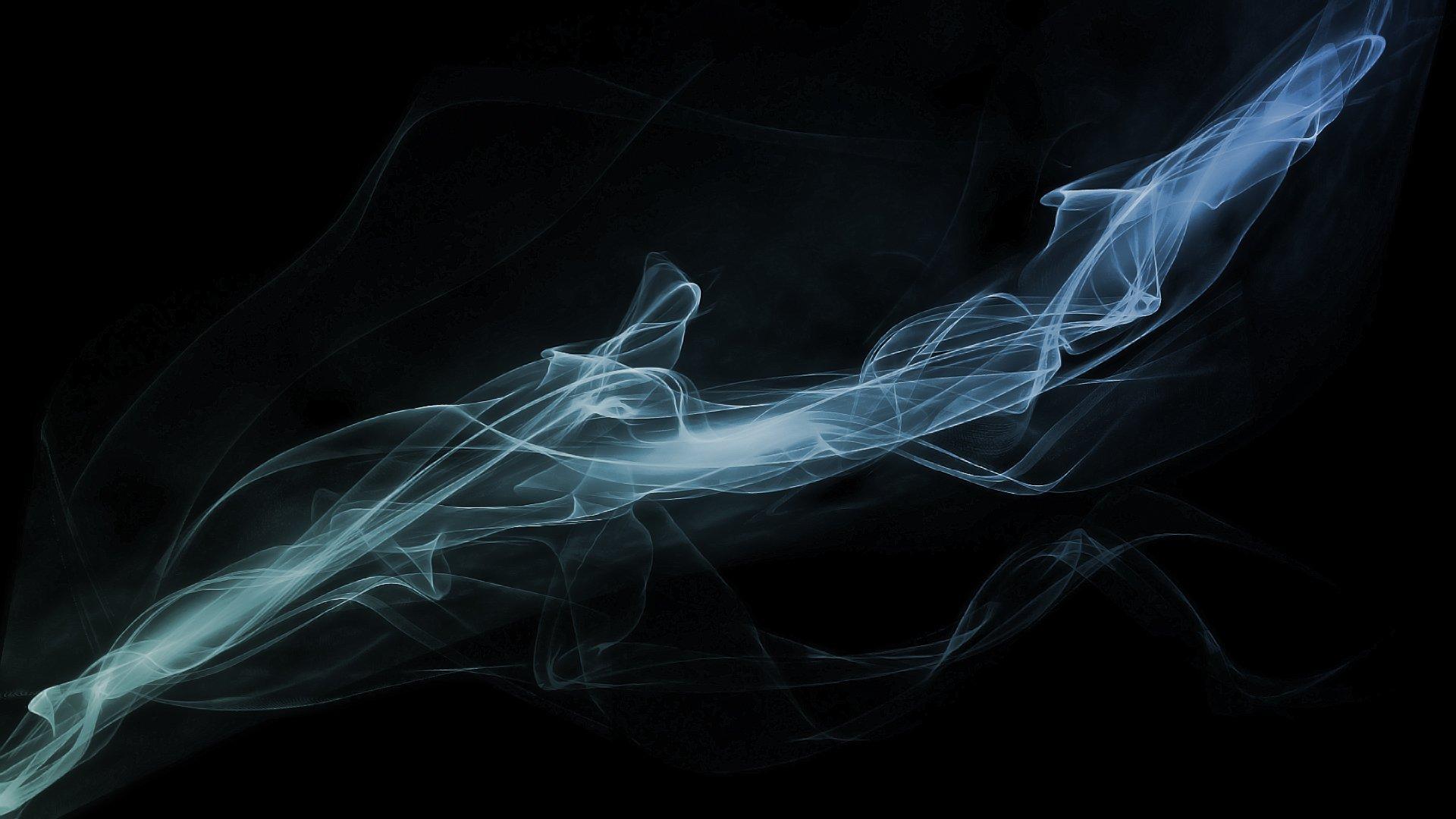 Картинка из дыма на черном фоне
