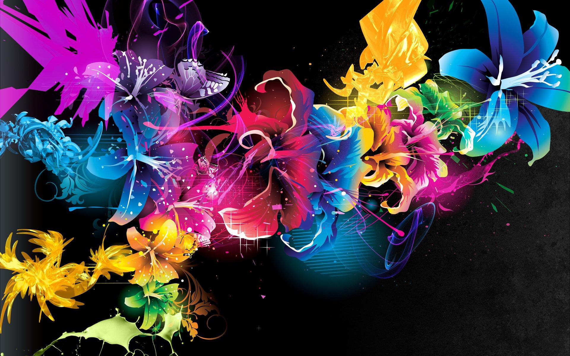 Обои краски, цветы. Абстракции foto 9