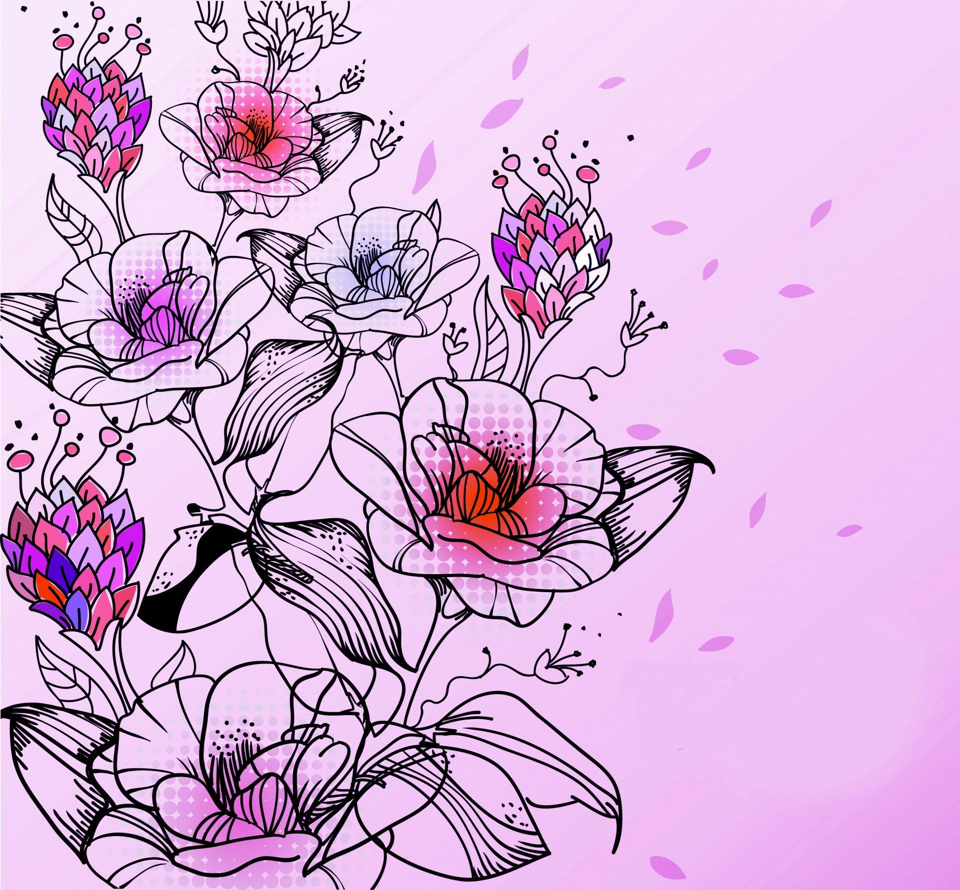 часто картинки для цветы рисовать время работала